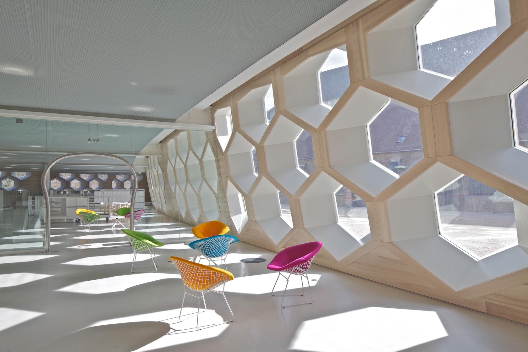 lons le saunier library architizer. Black Bedroom Furniture Sets. Home Design Ideas