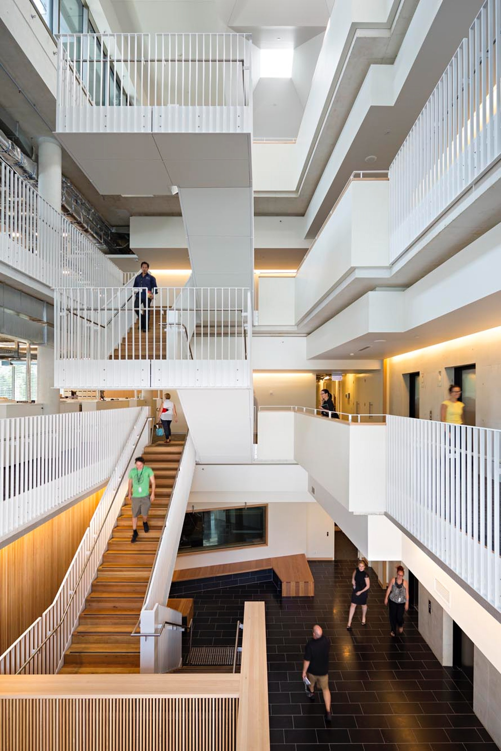 Foyer Staircase Qld : Abc headquarters brisbane architizer