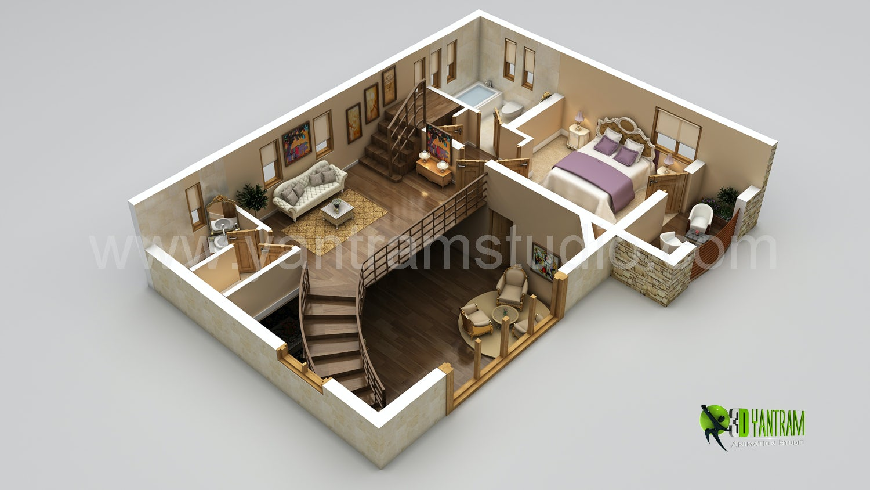3d floor plan on architizer