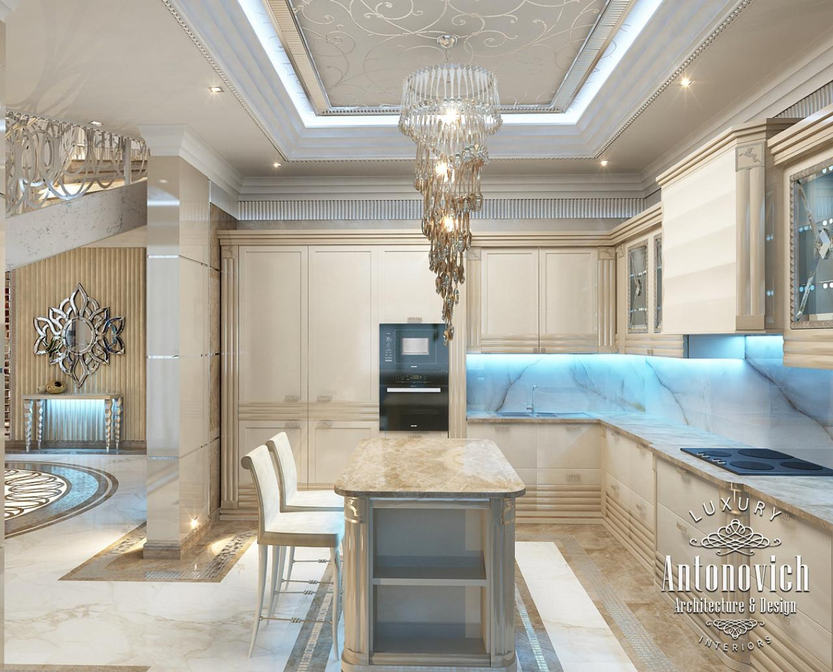 Luxury interior design dubai from katrina antonovich architizer for Dynamic kitchen design interiors