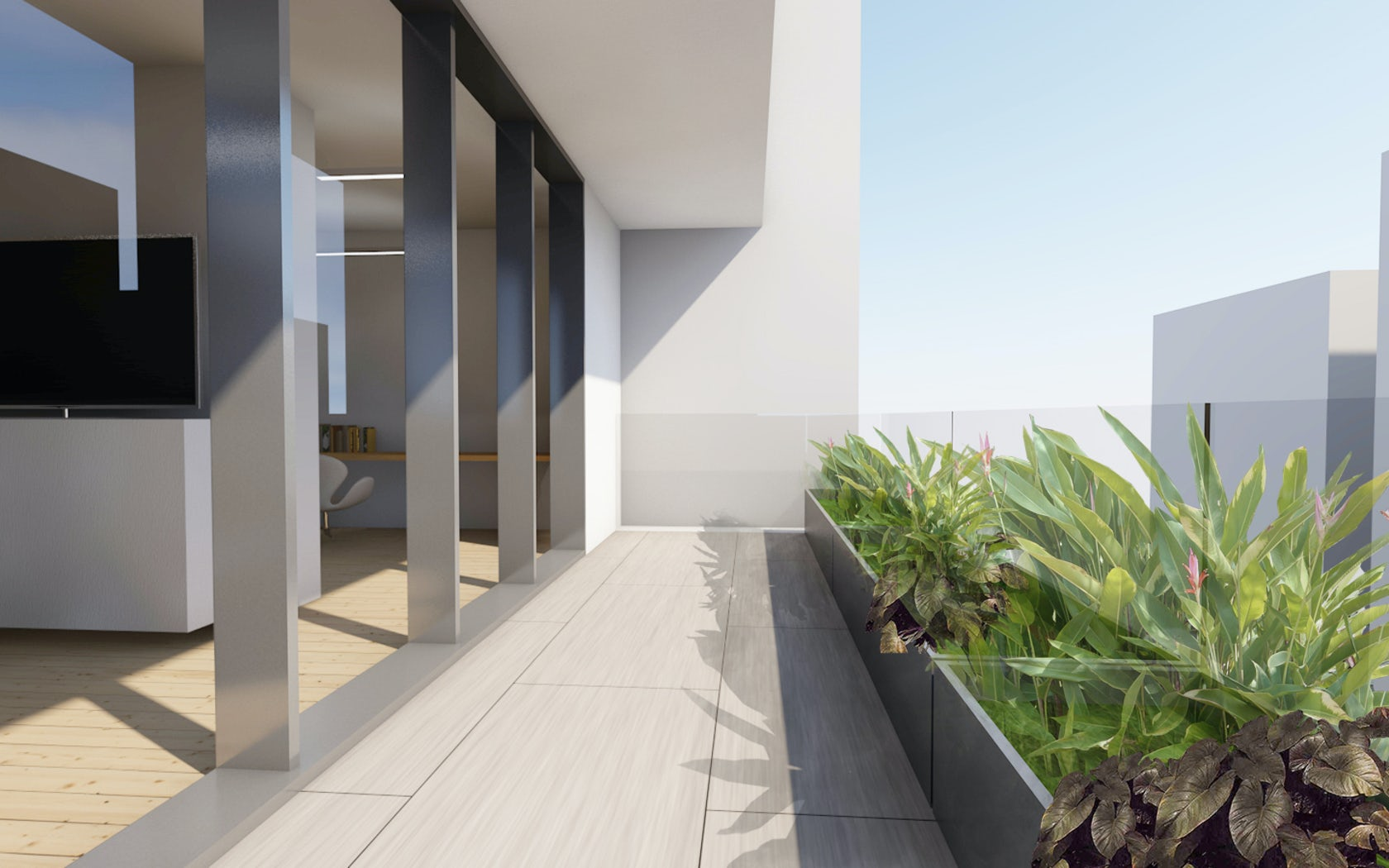 Frame house architizer for Mtr landscape architects