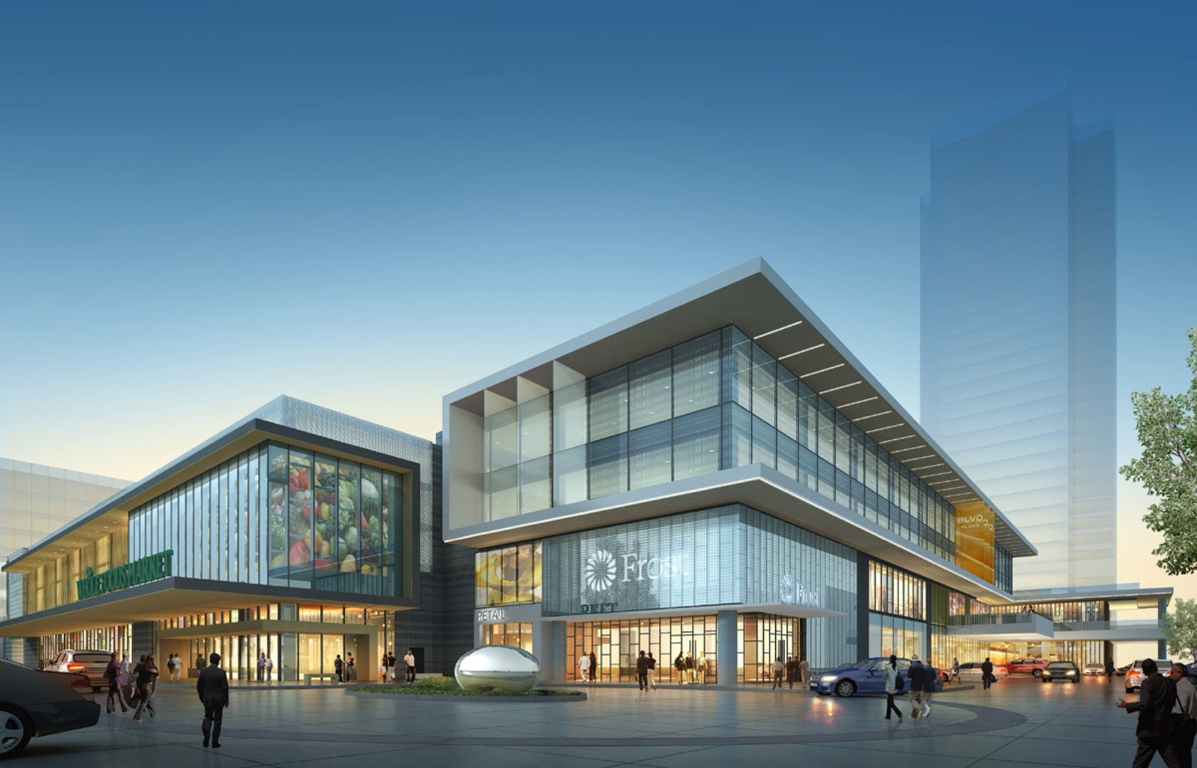 Park Auto Mall >> Architectural Commercial Rendering - Architizer