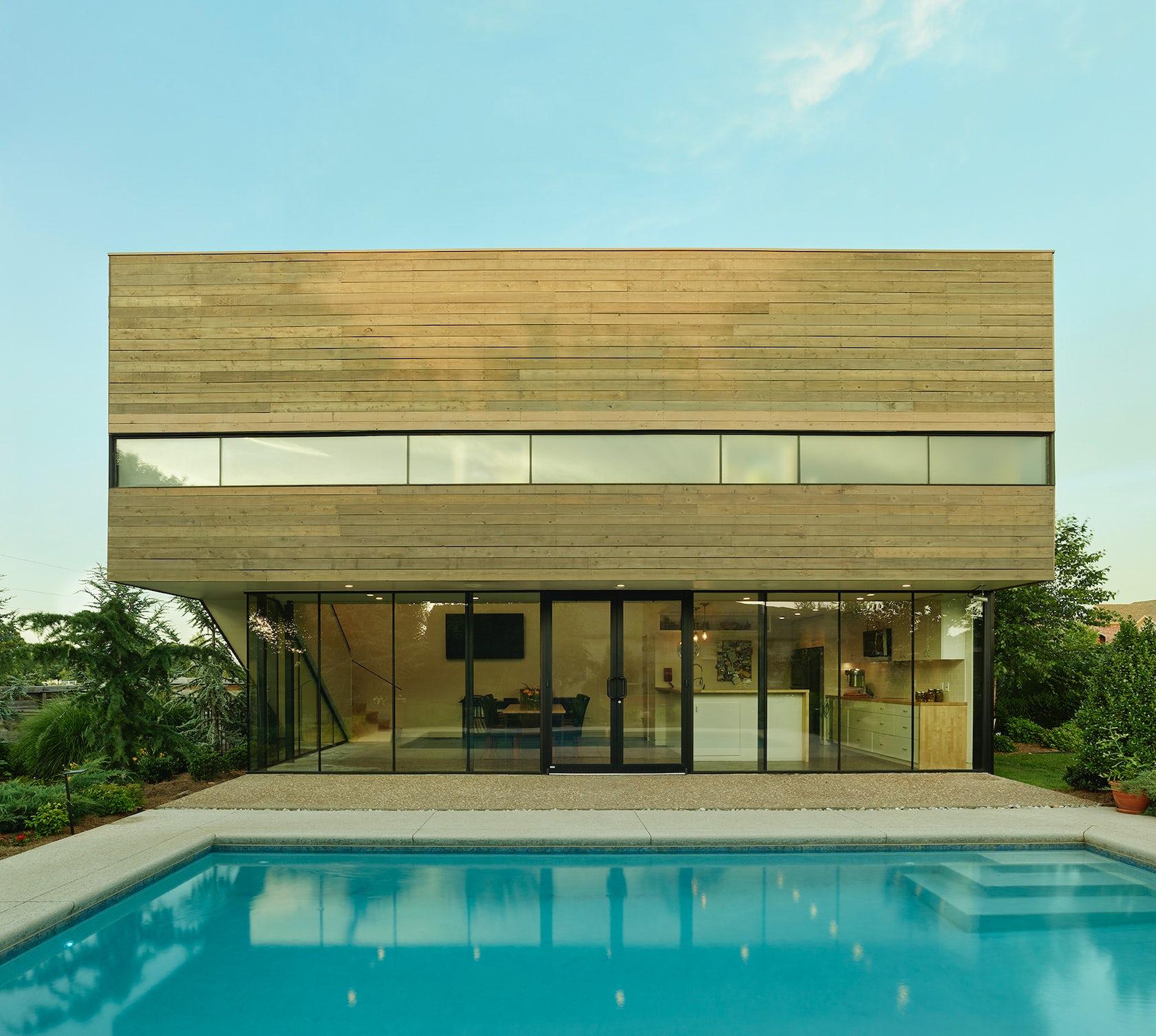 Srygley poolhouse architizer for Pool design maryland