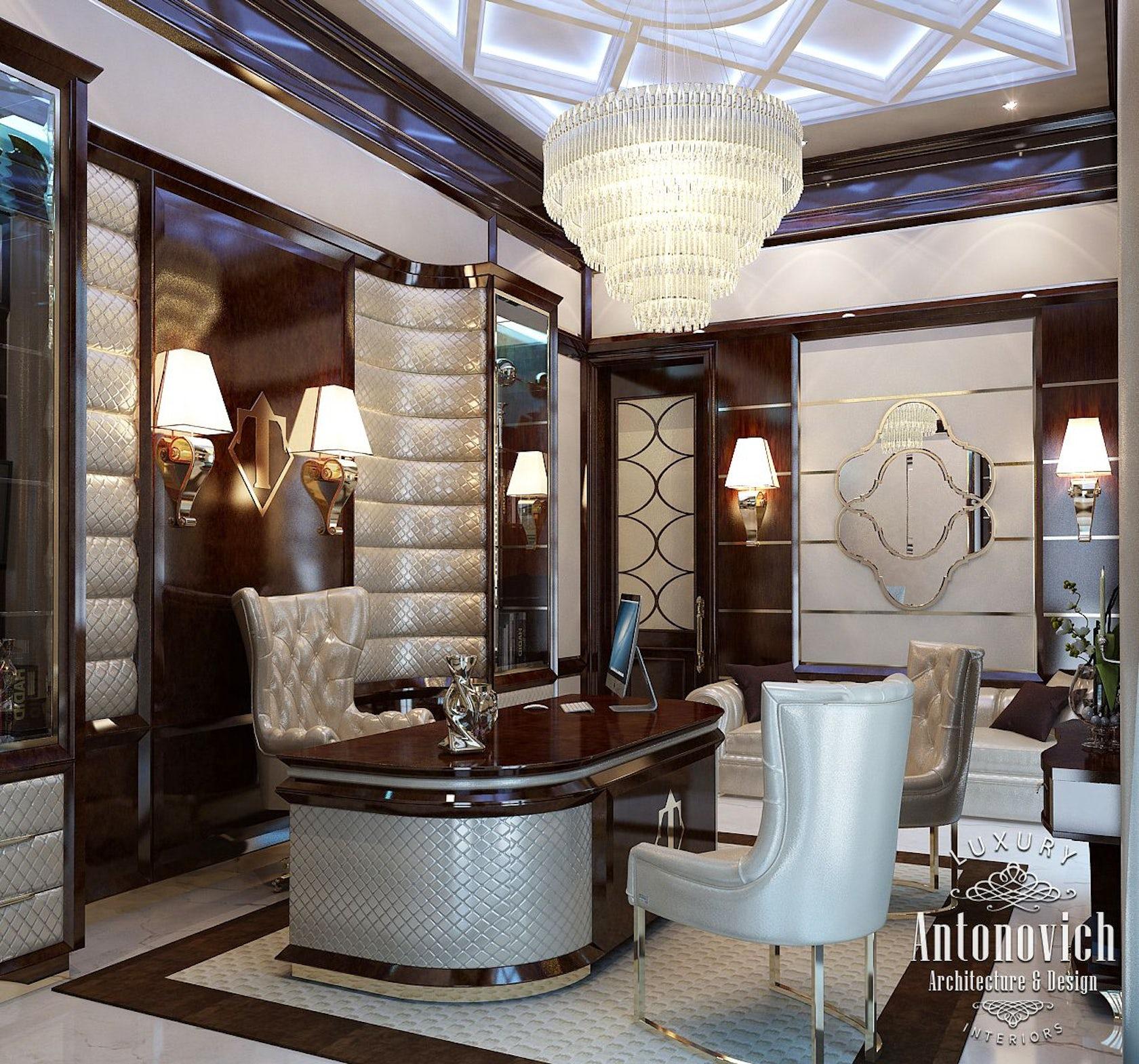 Katrina Antonovich Luxury Interior Design: Office Interior From Luxury Antonovich Design