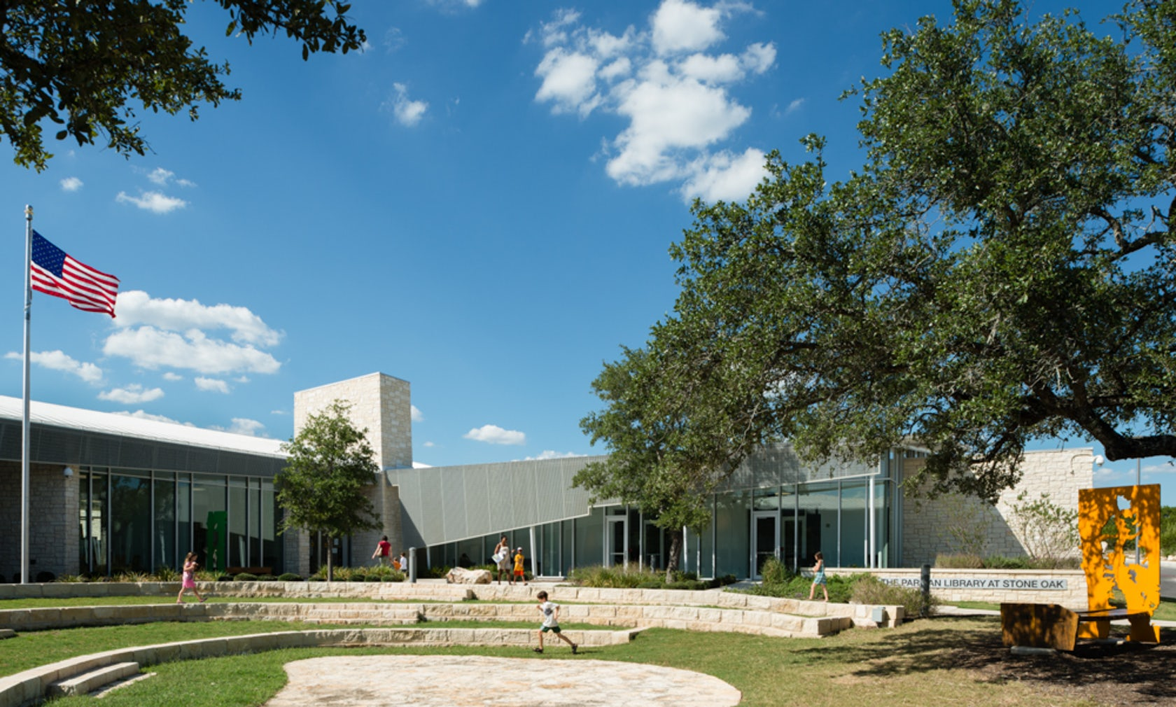 Stone Oak Elevation : Parman library at stone oak architizer