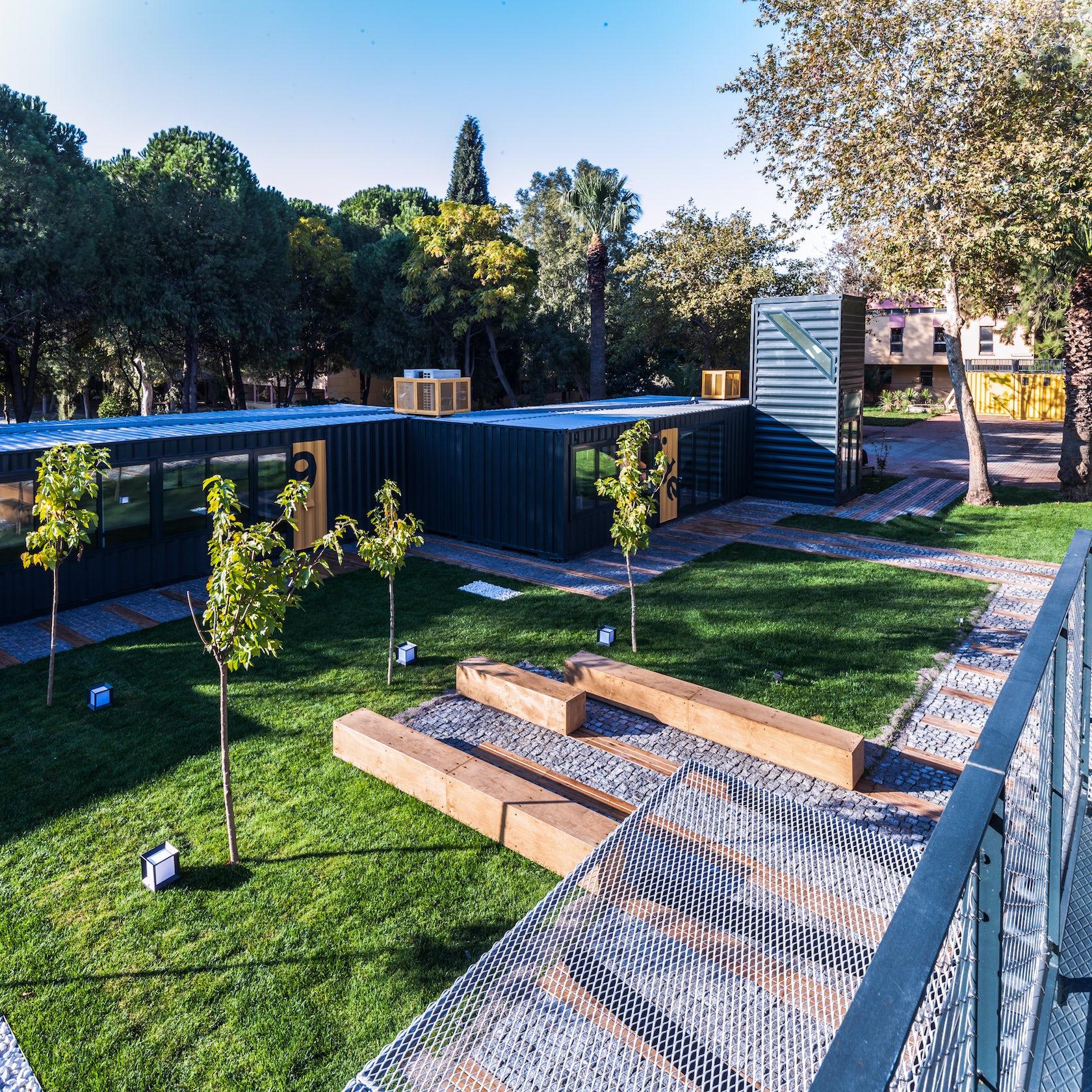Container park architizer for 60 park terrace west