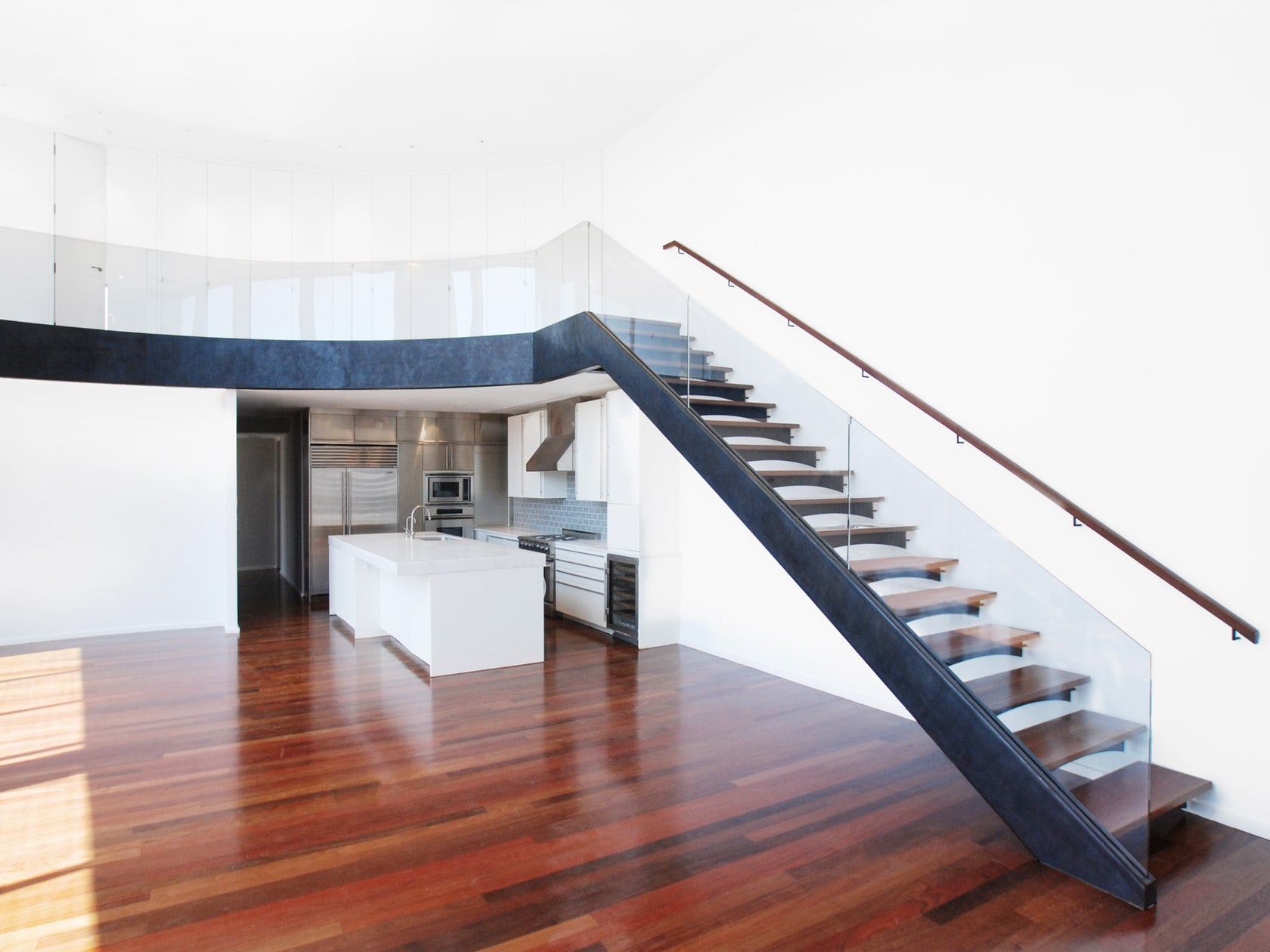 Blacked Steel Staircase With Mezzanine Architizer