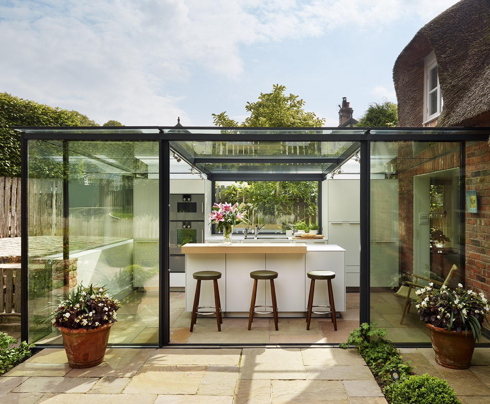 #664325 Glass Box Extension On Thatched Cottage: Kitchen Architecture's  Kitchen Glass Window Box 5041