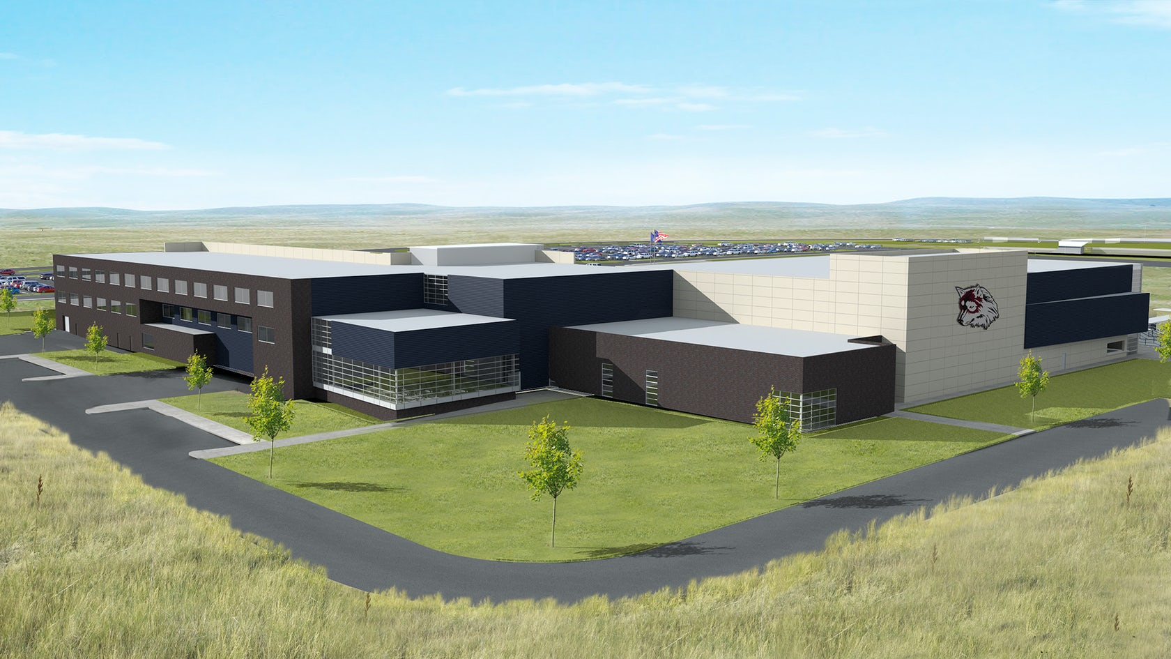 Watford city high school architizer for Q kitchen watford city