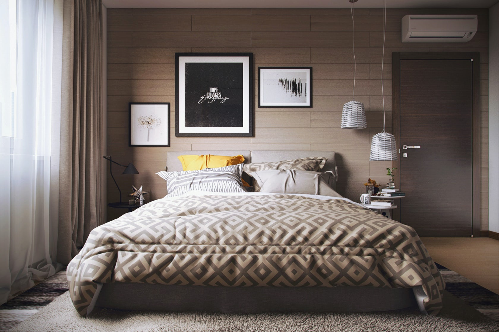Bedroom 3d Visualization Architizer