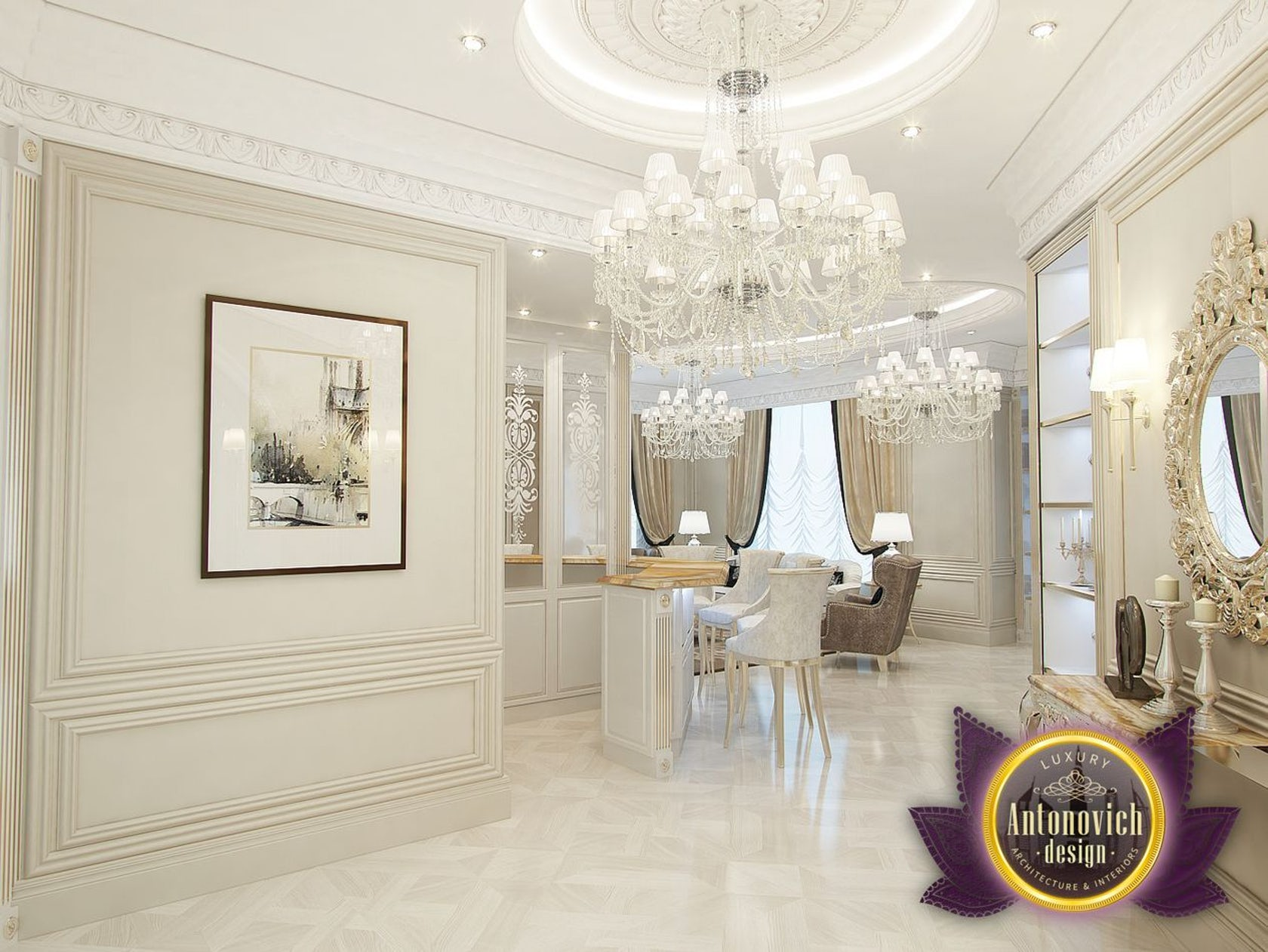 The entrance design by luxury antonovich design on architizer