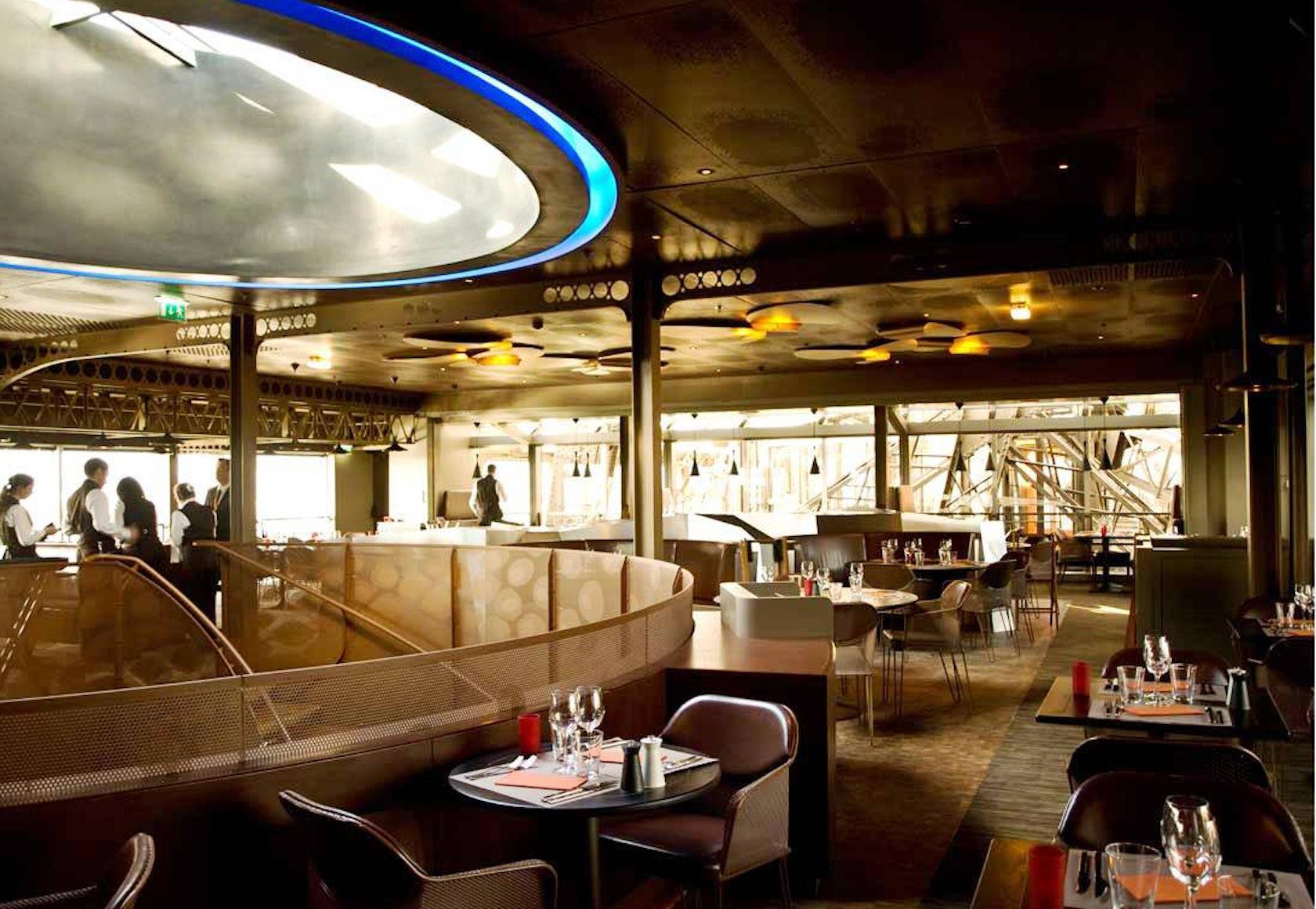 eiffel tower restaurant architizer. Black Bedroom Furniture Sets. Home Design Ideas