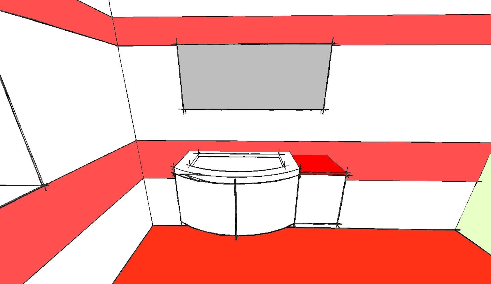Bagno rosso e bianco architizer for Bagno rosso