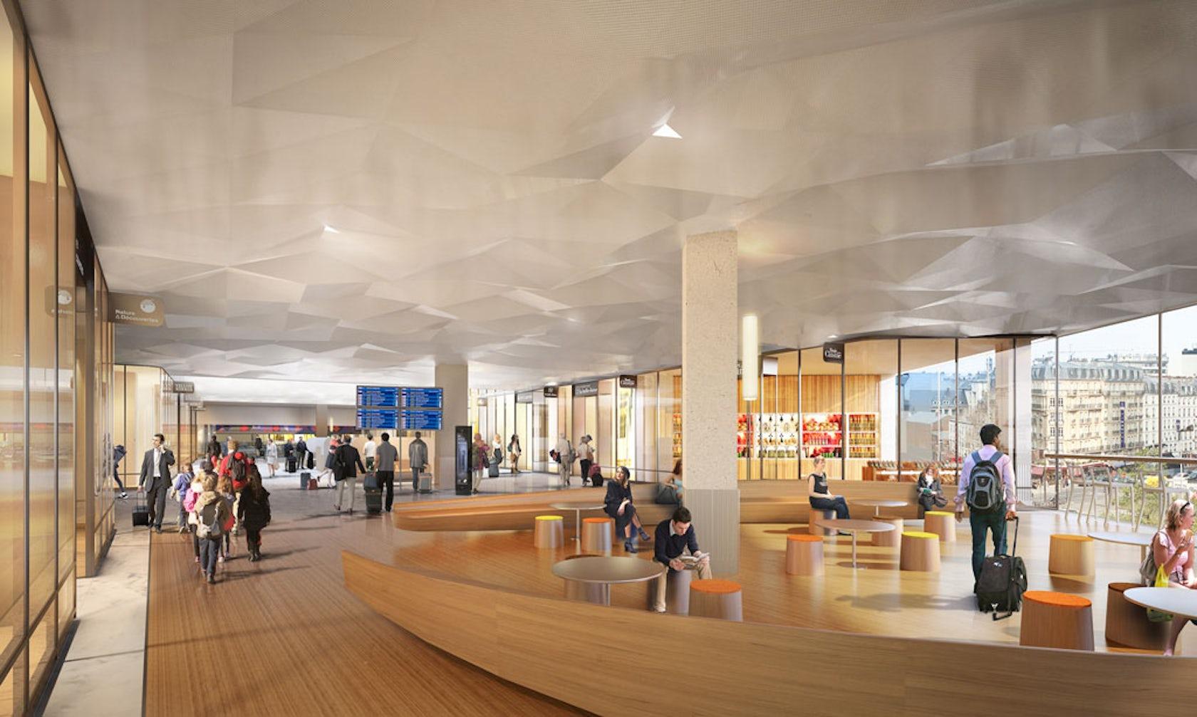 Gare montparnasse paris train station architizer for Hotel design montparnasse
