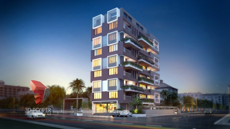 Spectacular 3D Apartment Exterior U0026 Floor Plan Rendering Design By 3D Power  On Architizer