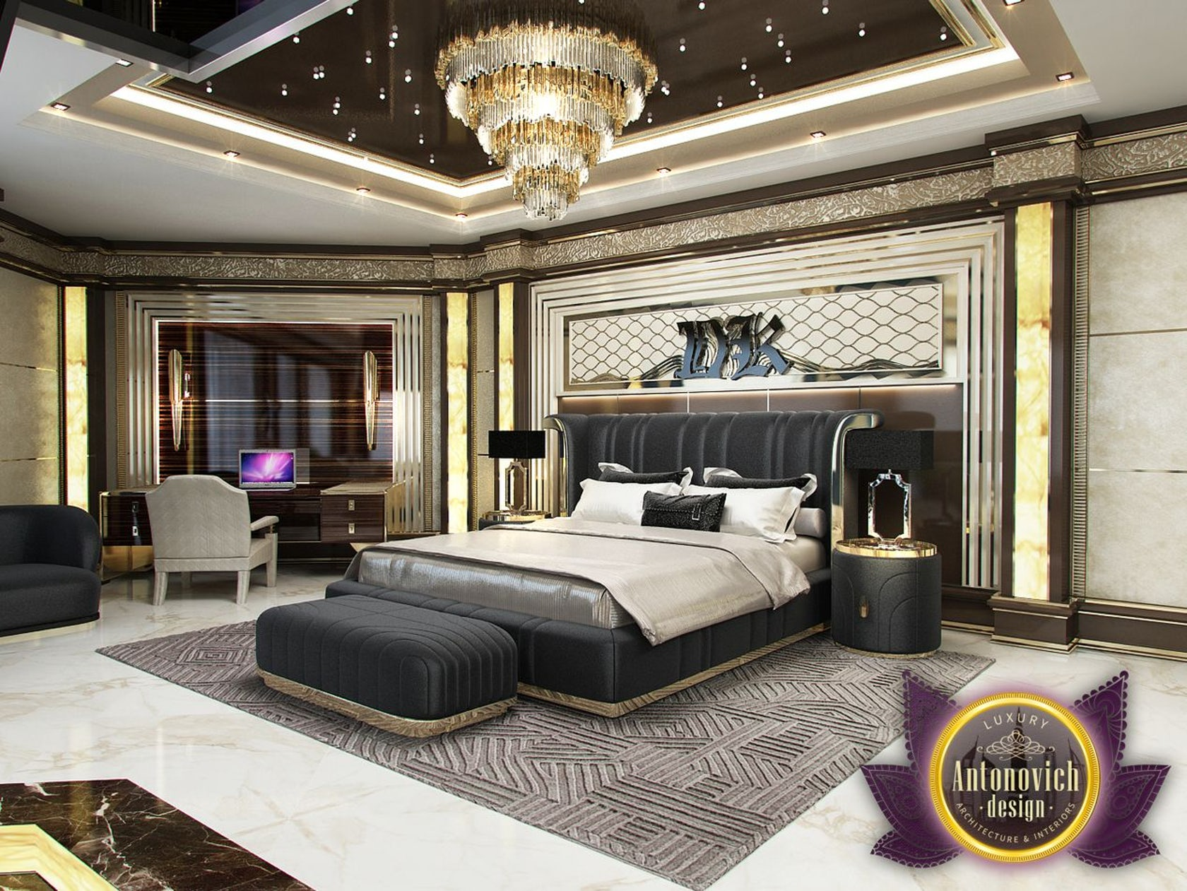 . Master Bedroom from Luxury Antonovich Design on Architizer