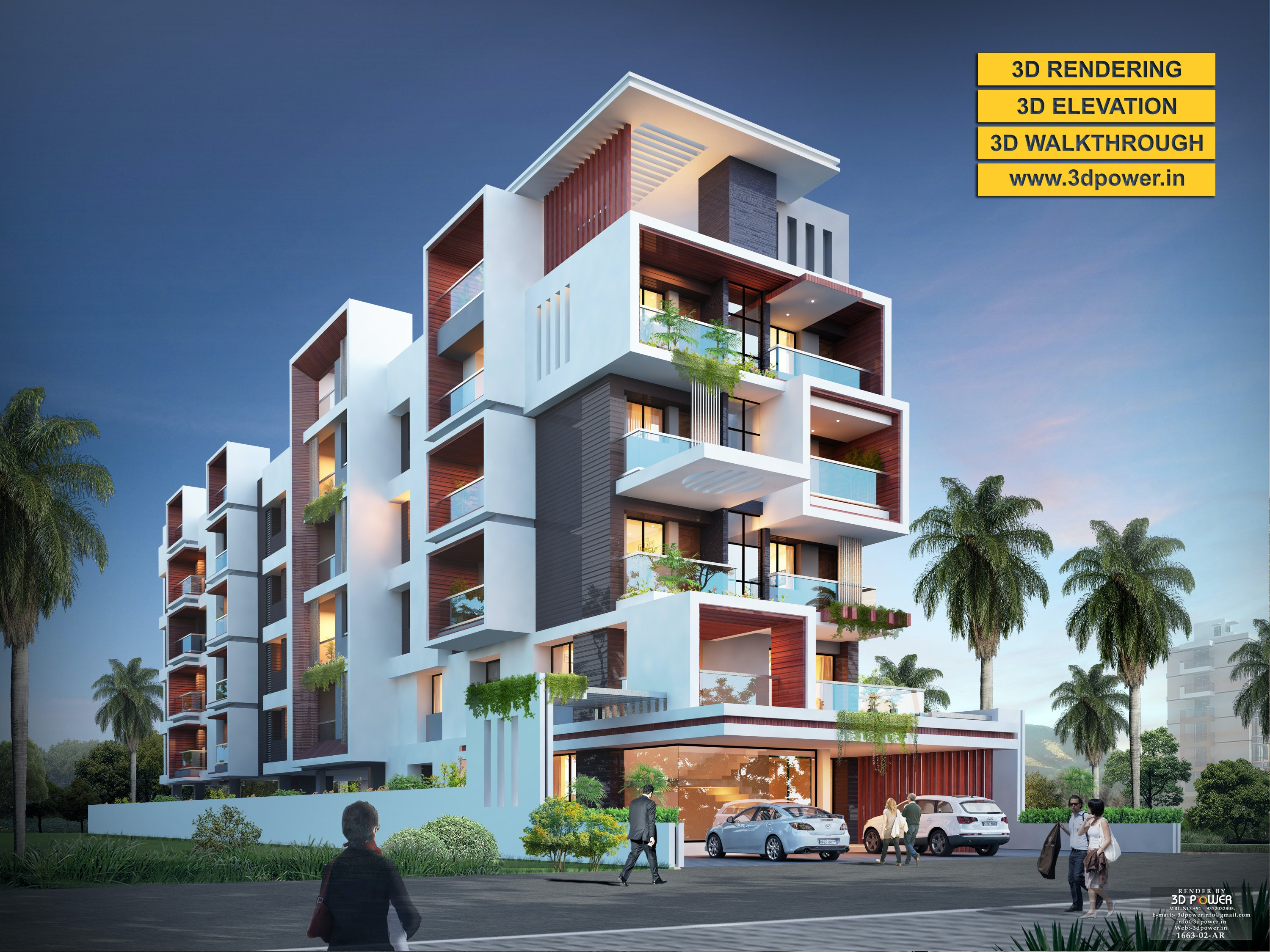 3d Apartment Design Exterior 3d ultramodern apartment exterior day rendering and elevation