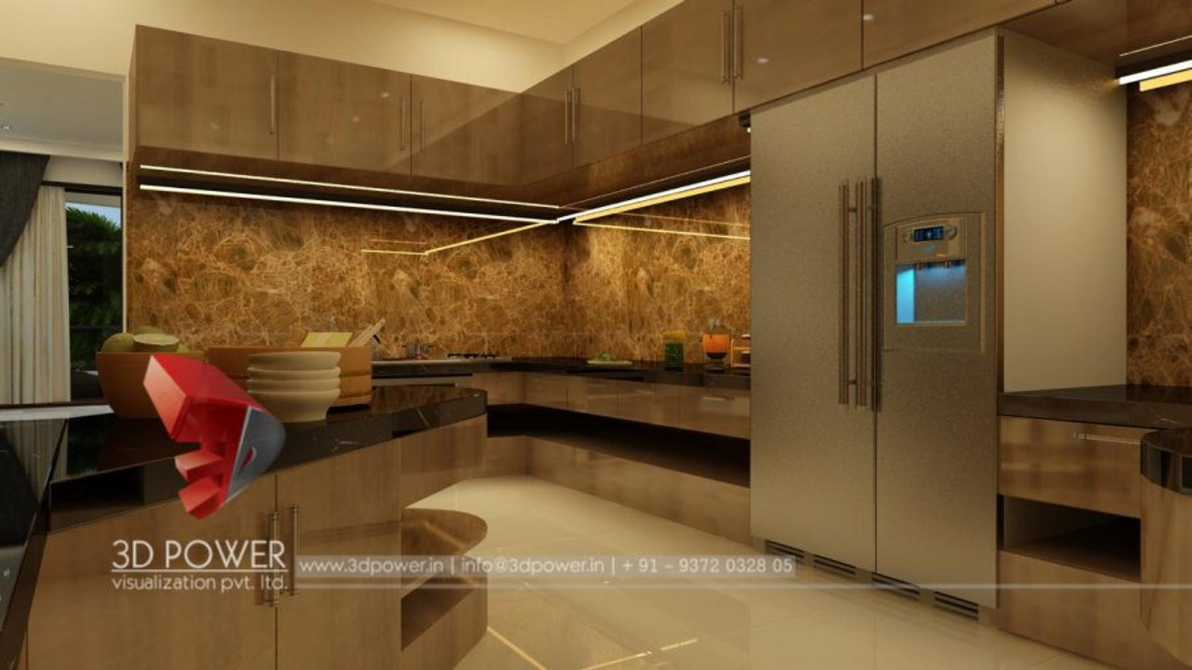 3d Ultramodern Interior And Exterior Rendering And