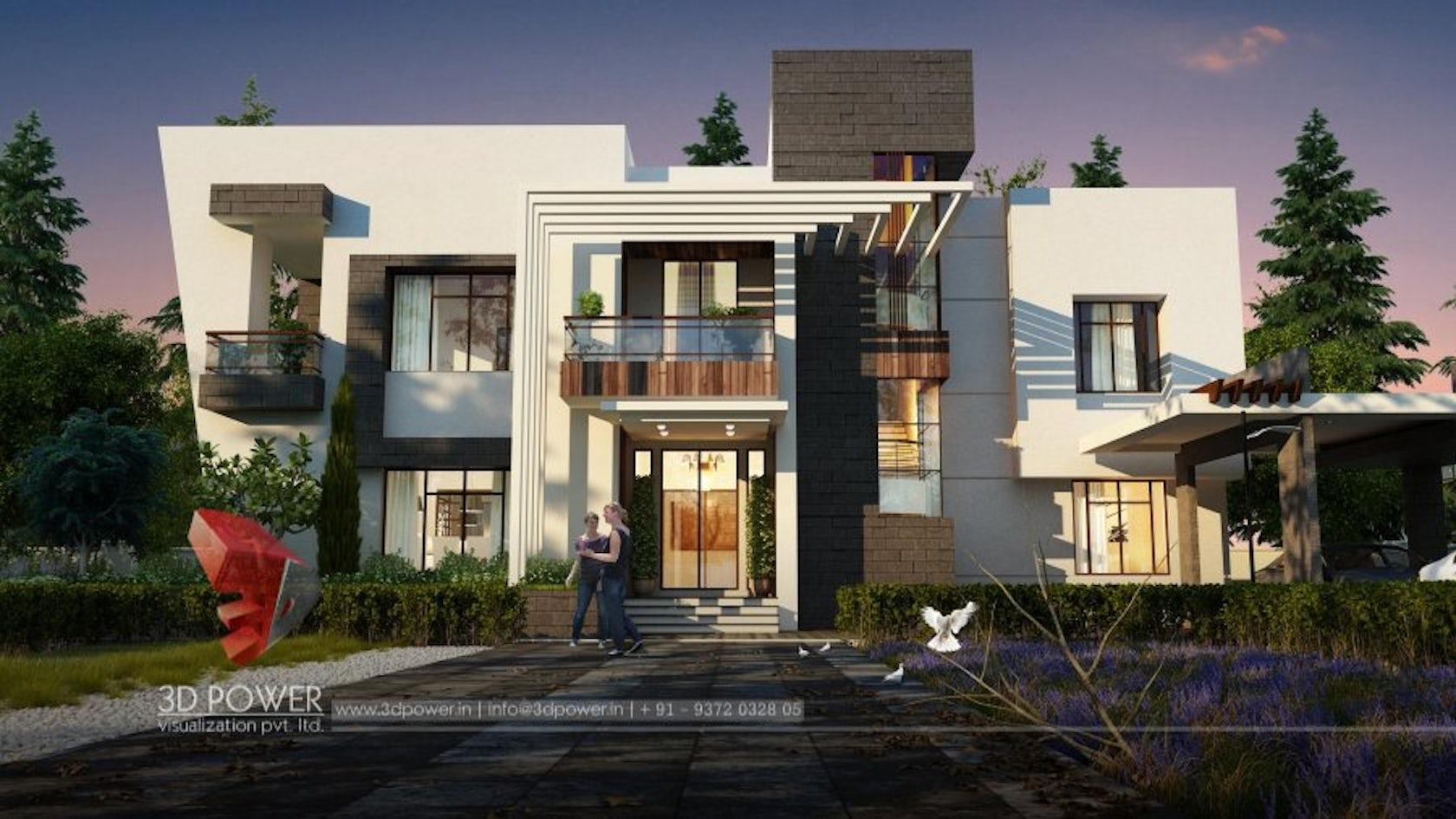 3d power visualization pvt ltd architizer for Terrace elevation designs