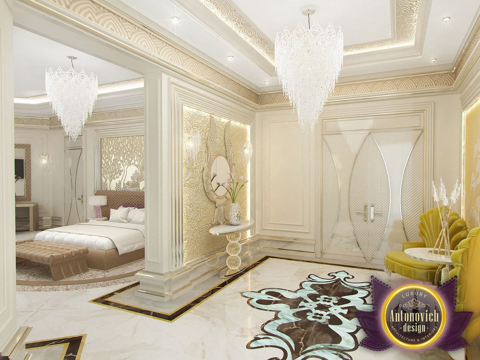 Modern bedroom designs by luxury antonovich design on architizer