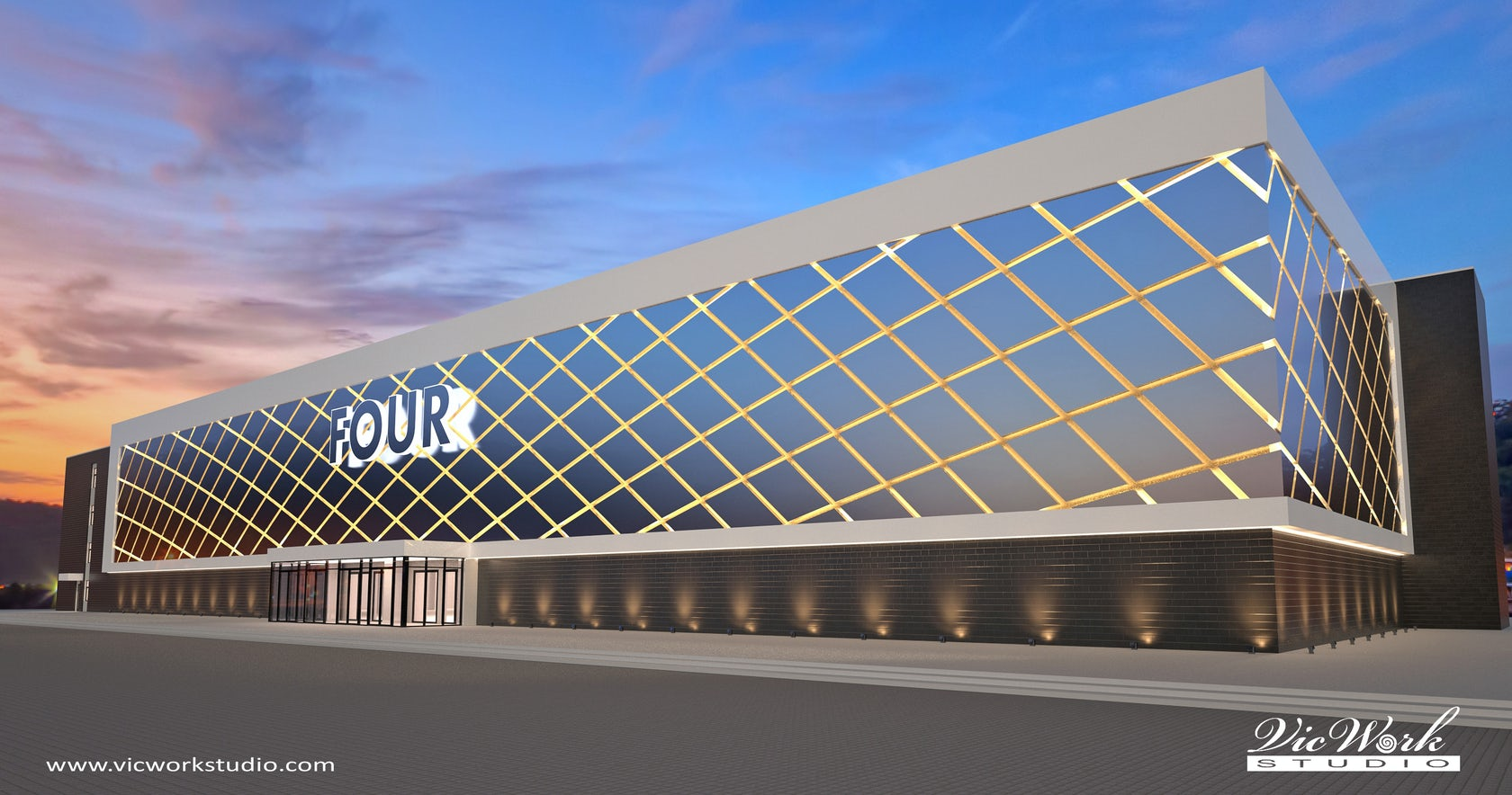 Concept designs of the shopping mall facade architizer