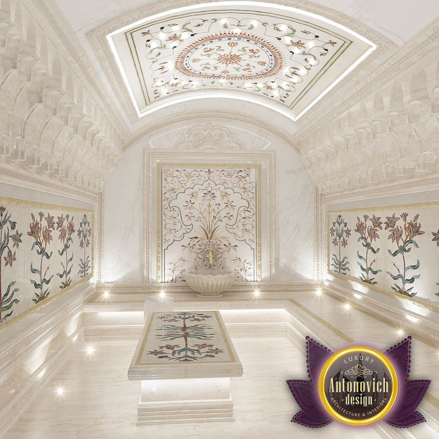 Hammam Design From Luxury Antonovich Design