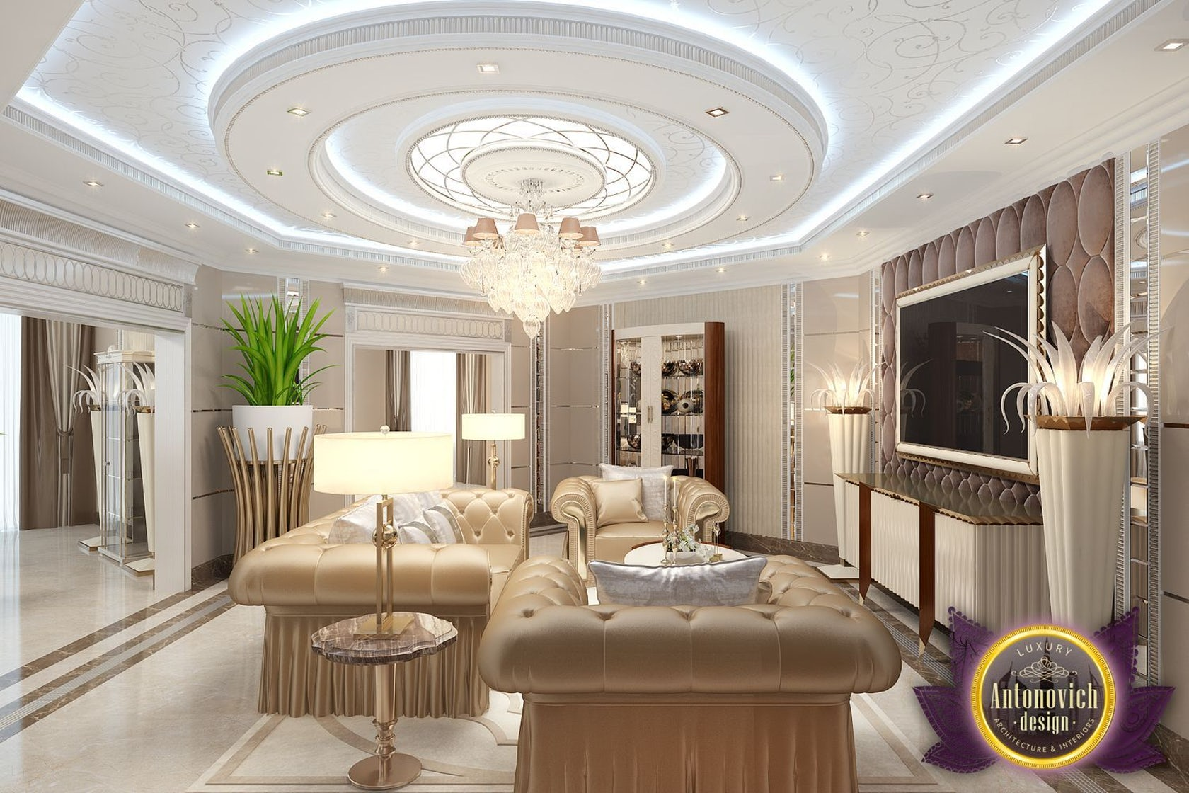 Living room decoration ideas by luxury antonovich design architizer - Room interior decoration ...