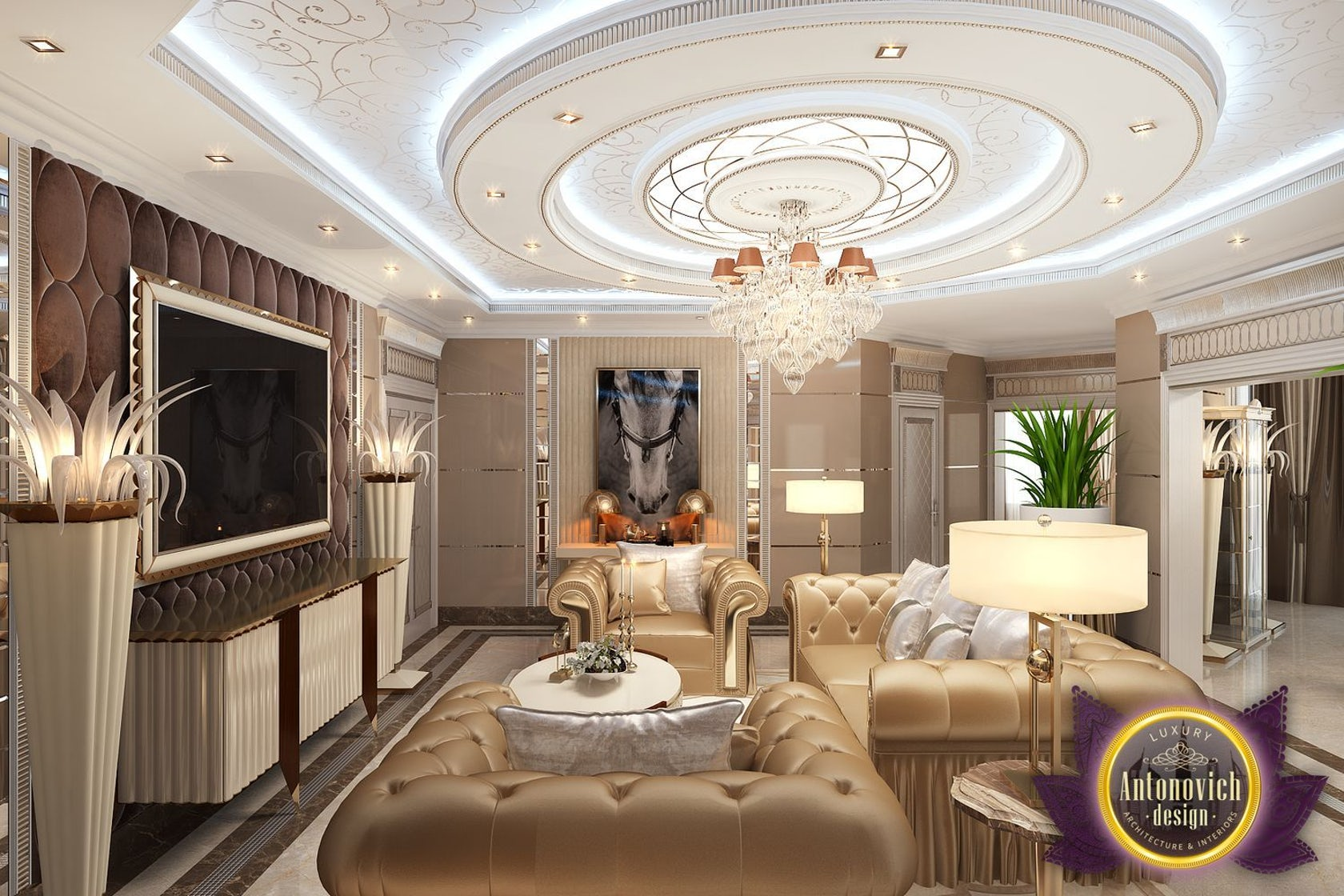 Living room decoration ideas by luxury antonovich design on architizer