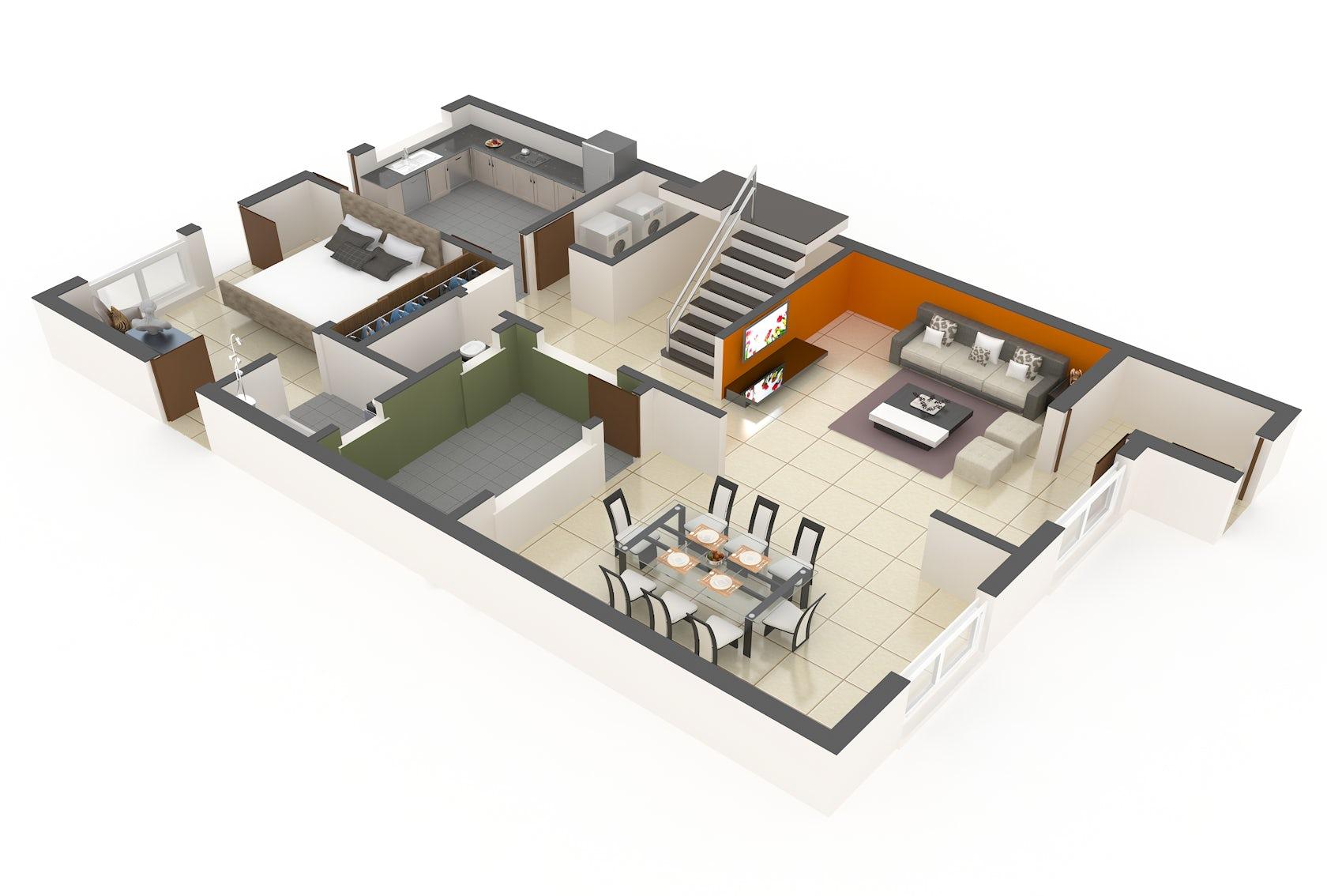 3d floor plan services architizer. Black Bedroom Furniture Sets. Home Design Ideas