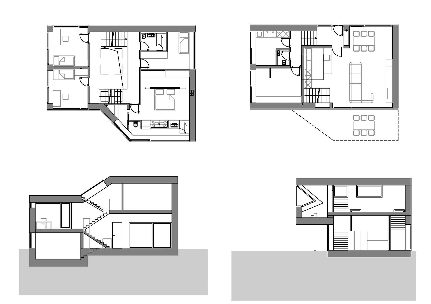 Mezzanine house architizer for Mezzanine plan