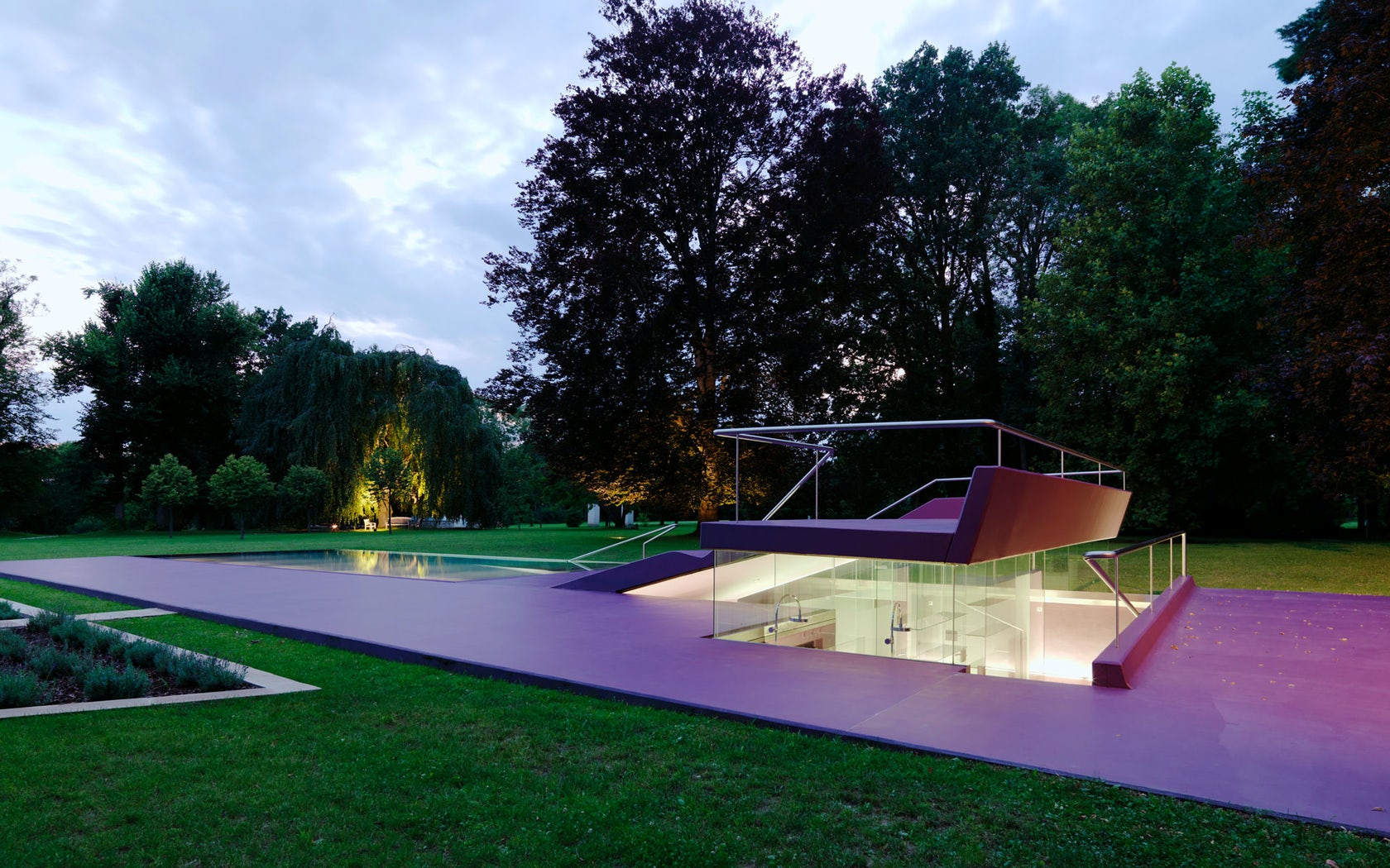 Eybesfeld outdoor swimming pool architizer for Garden pool facebook