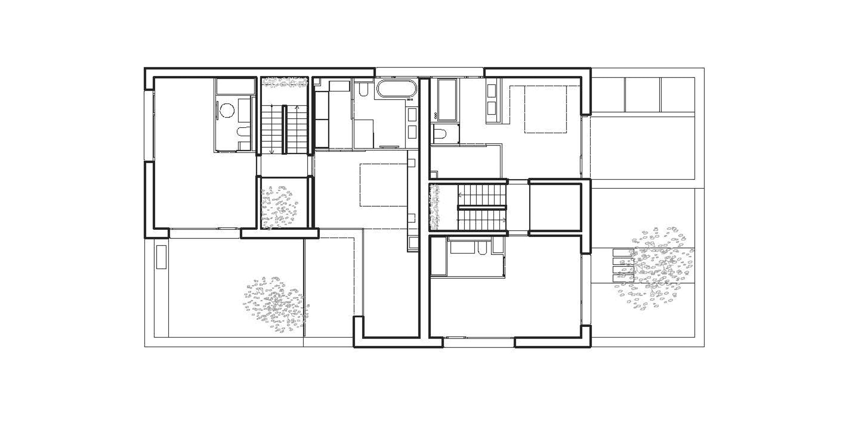Twin house architizer for Twin home floor plans