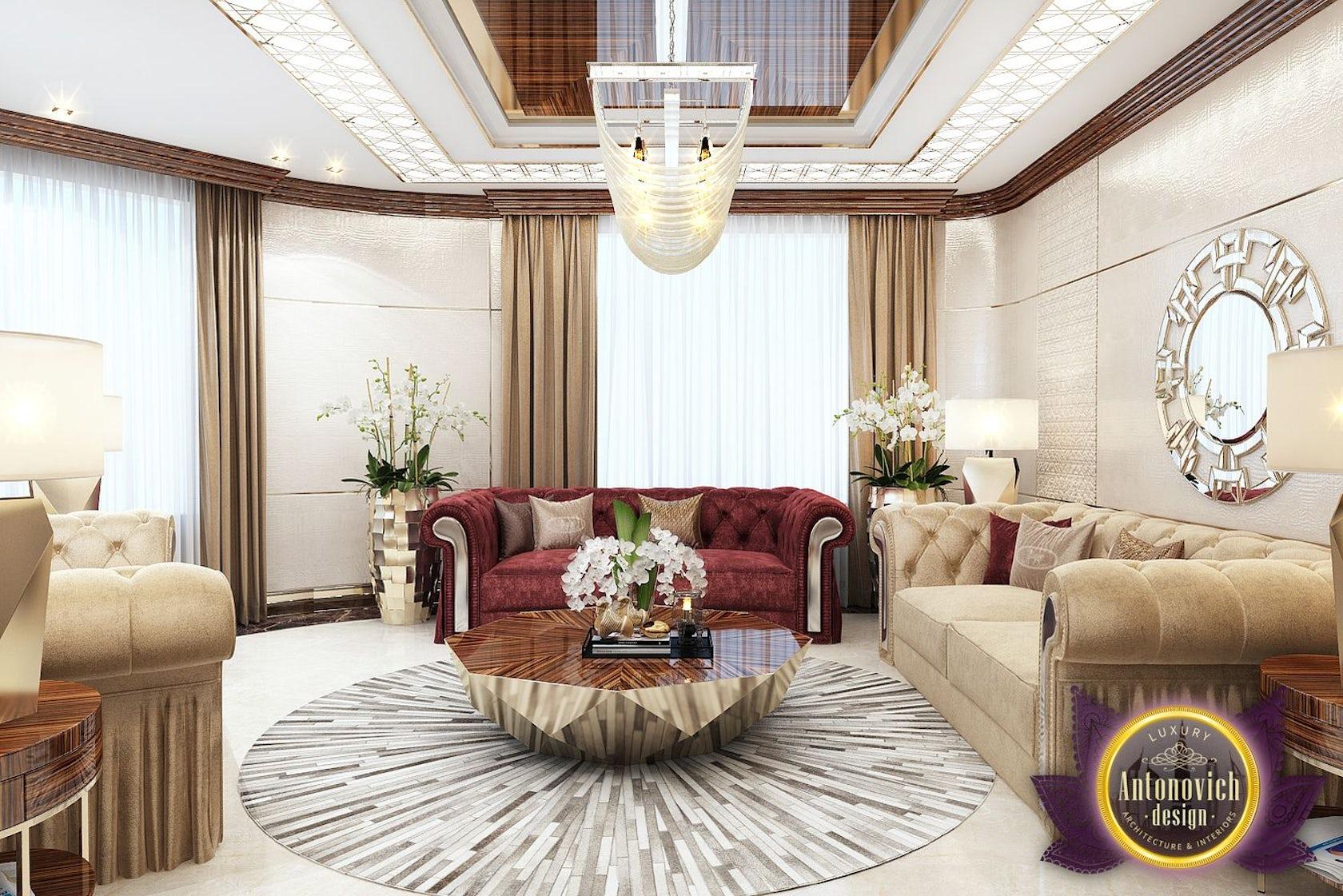 Living room design in Nigeria Abuja by LUXURY ANTONOVICH DESIGN ...