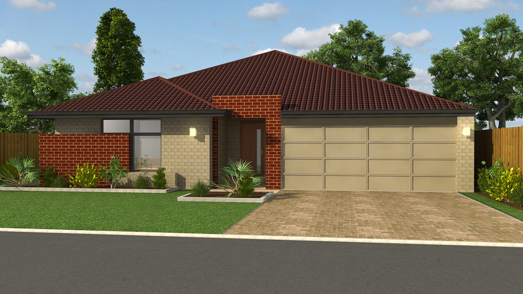 Beautiful exterior detailing of roof home design in 3d - 3d home exterior design tool download ...