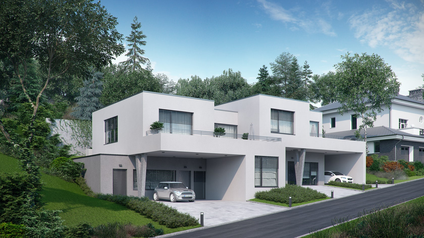 Duplex house in walding architizer for Duplex project homes