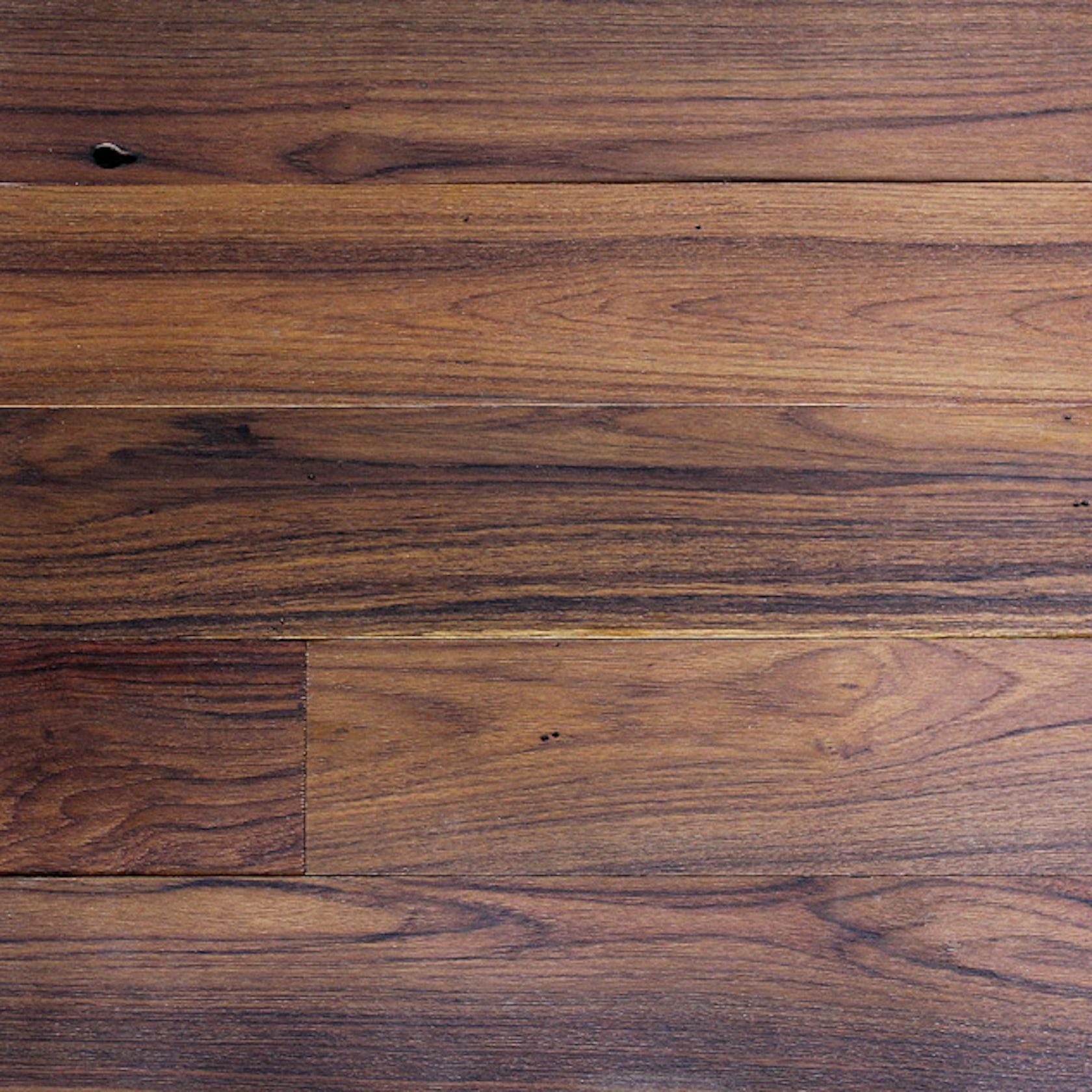 Reclaimed Surfaced Long Plank Teak Flooring Paneling