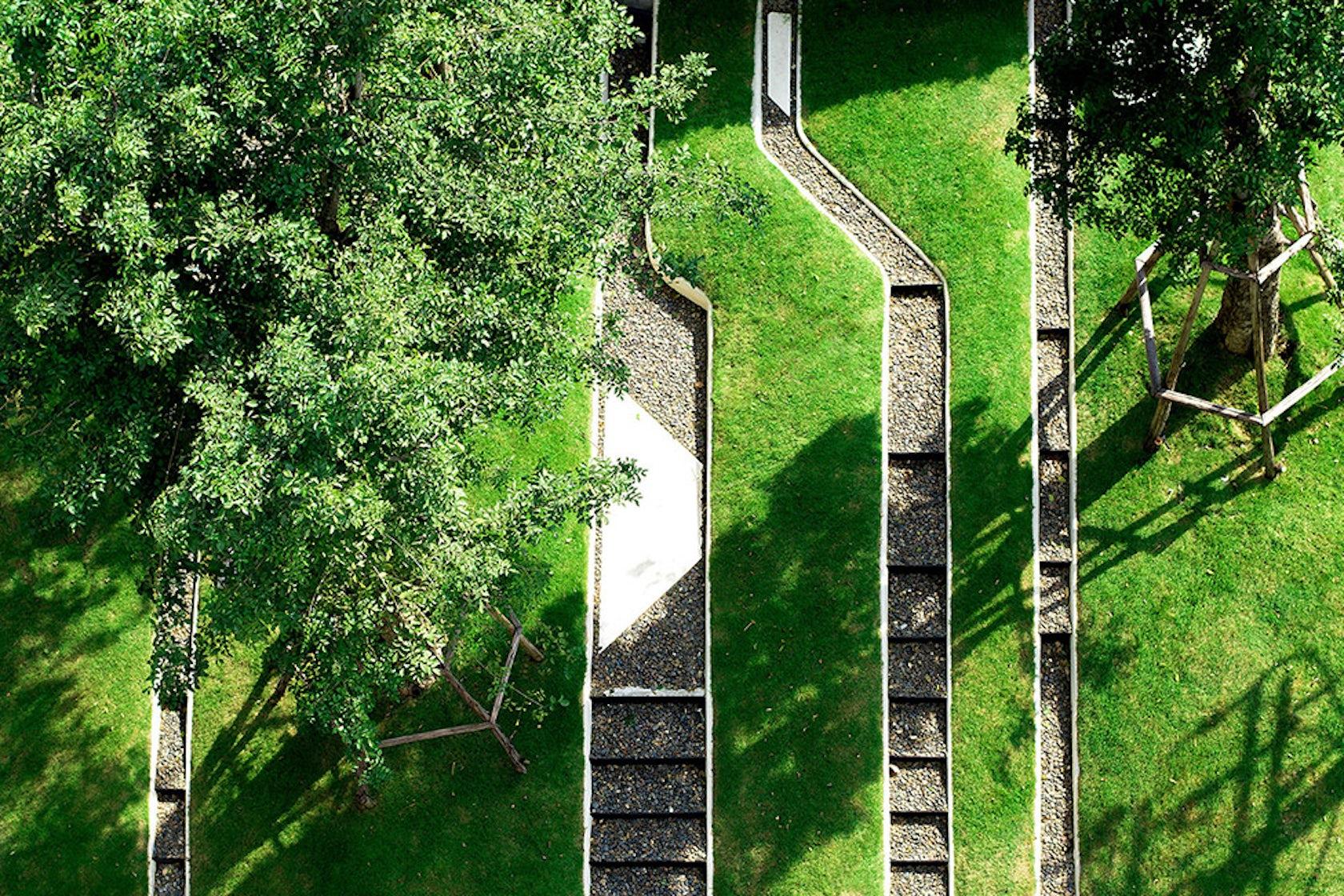 Trop terrains open space architizer for Outer space design landscape architects