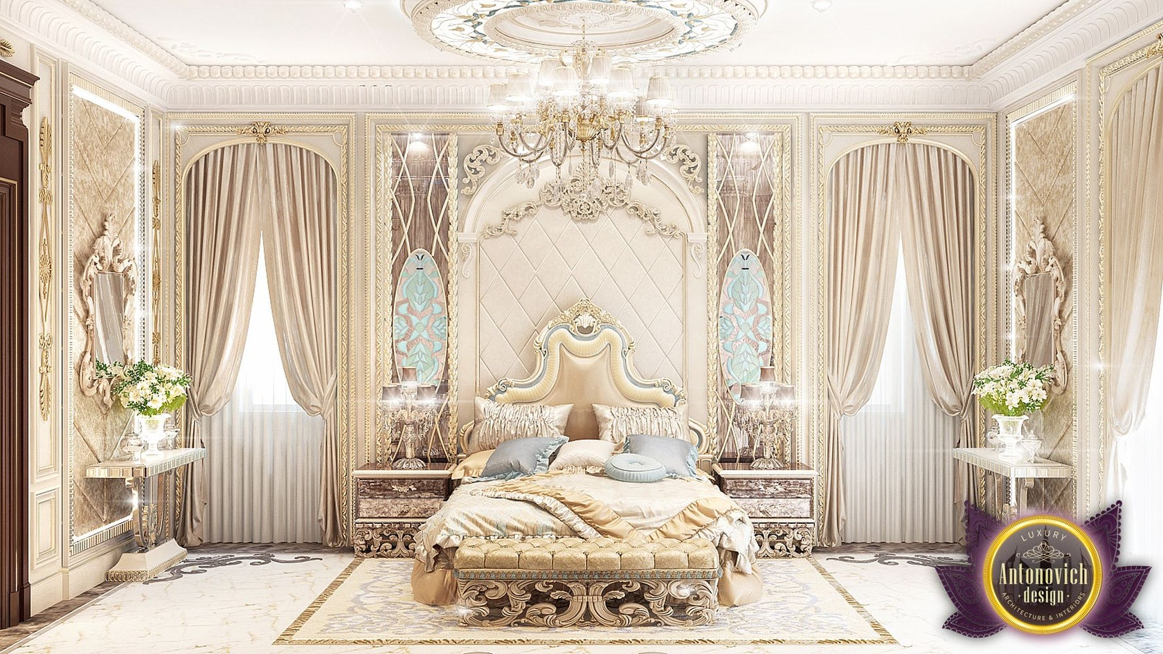 Luxury Royal Arabic Master Bedroom of Luxury Antonovich ...