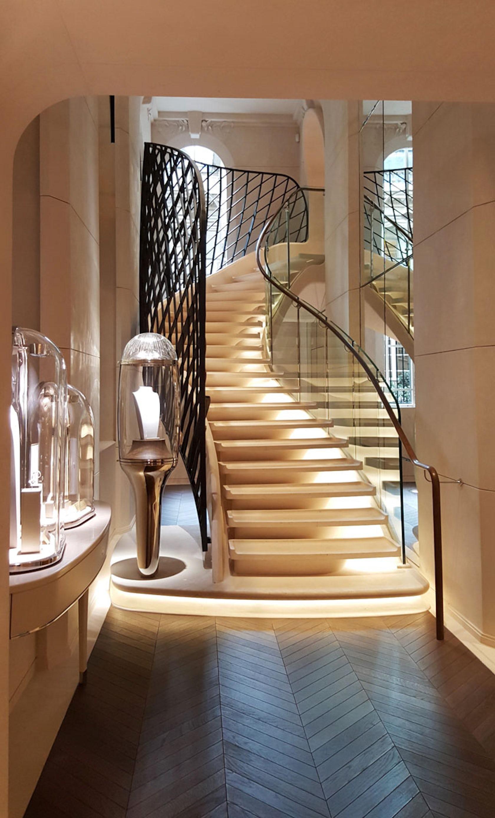 new van cleef arpels showroom in paris architizer. Black Bedroom Furniture Sets. Home Design Ideas