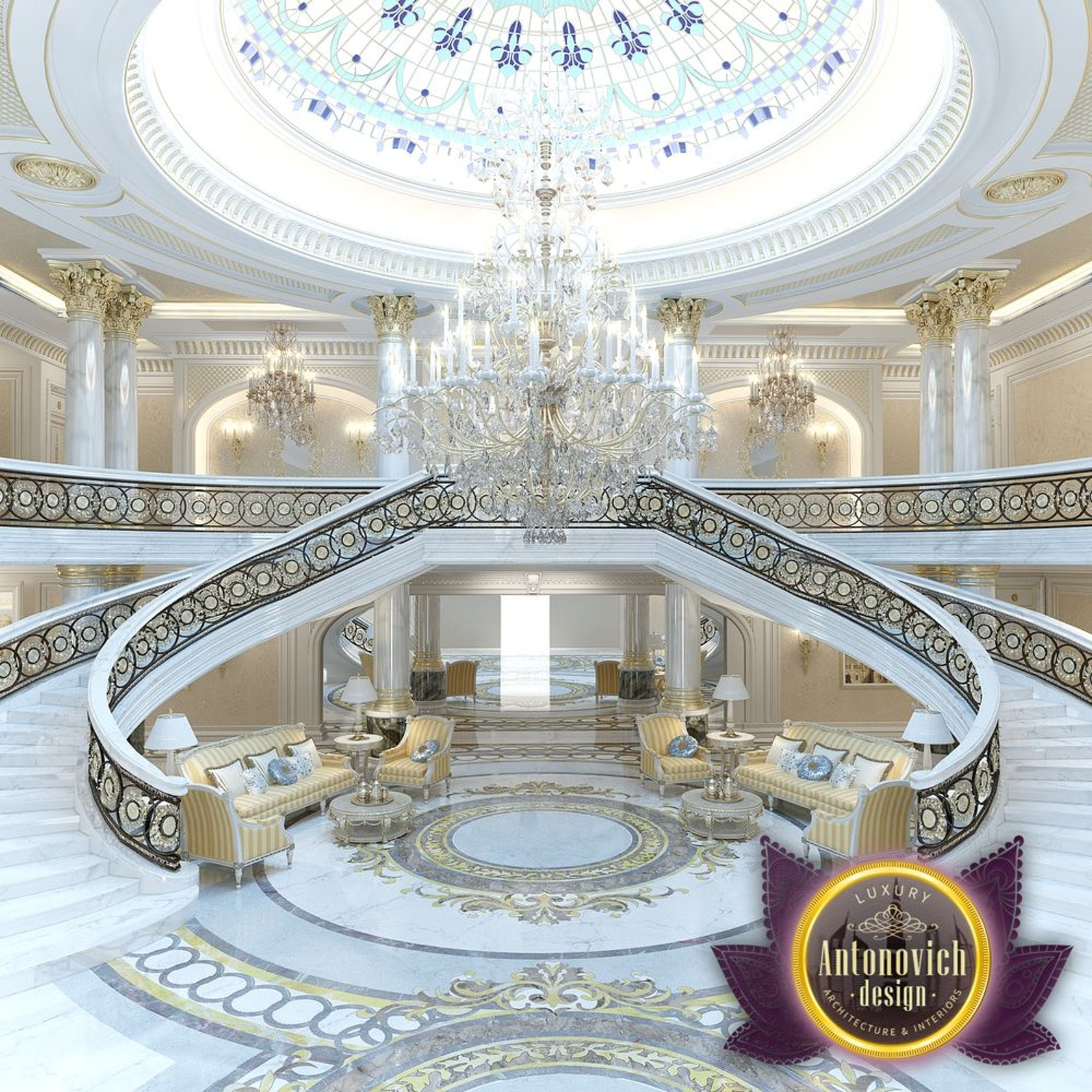 Villas Interior In Abu Dhabi From Luxury Antonovich Design
