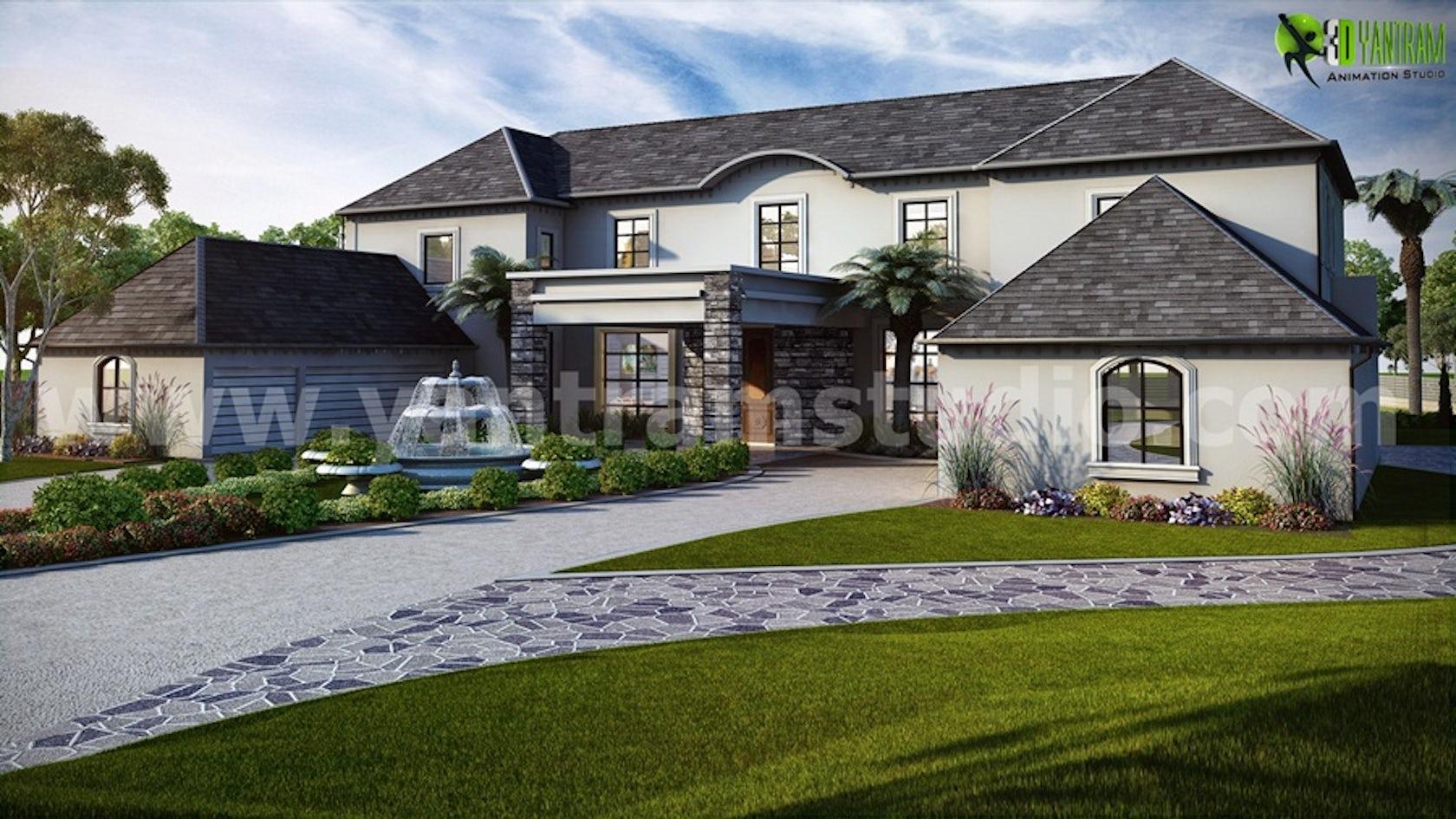 Classic exterior residential house design architizer for Exterior classic design