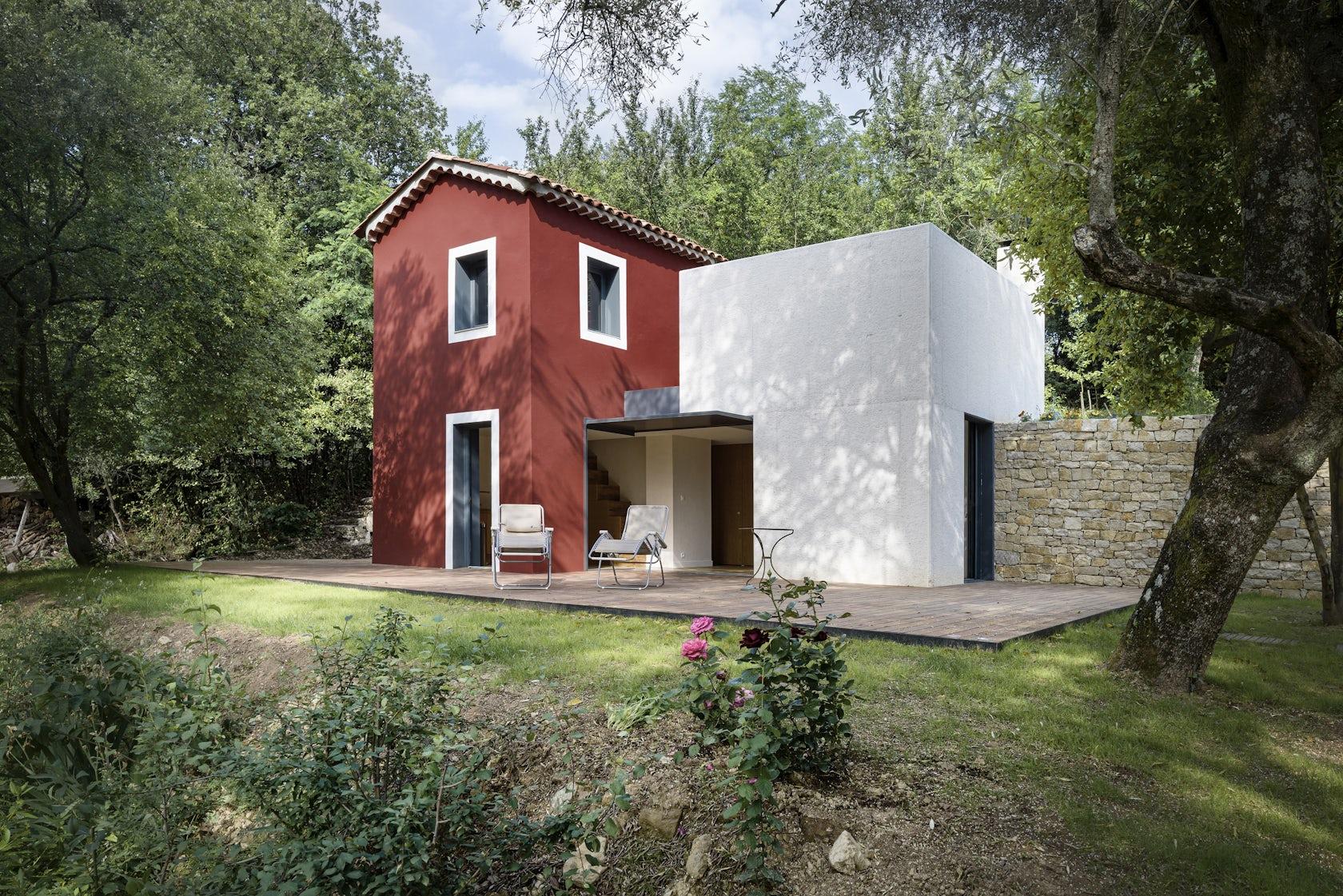 Rehabilitation et extension d 39 une maison rurale architizer for Extension maison zone rurale
