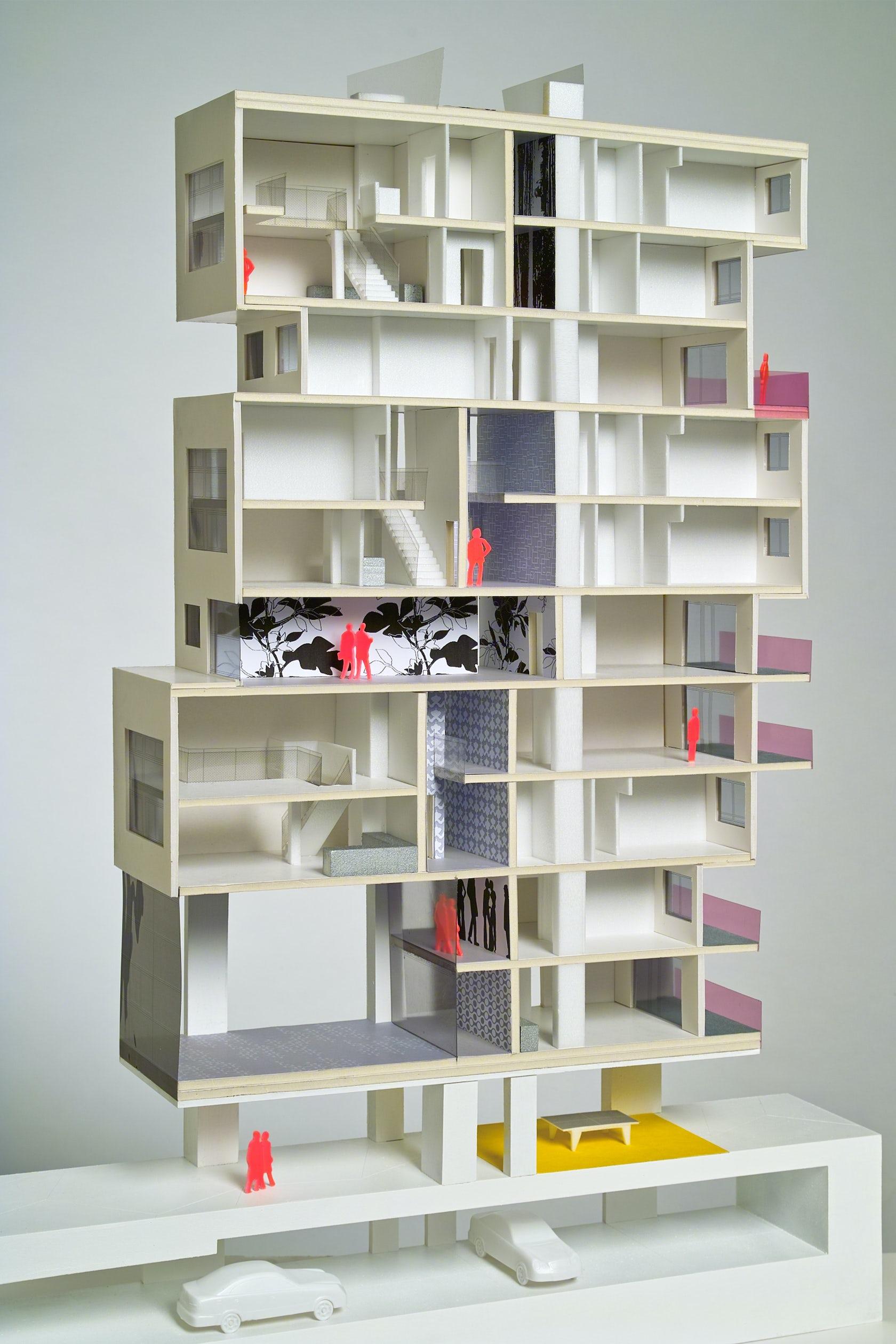 wohnen am park vienna architizer. Black Bedroom Furniture Sets. Home Design Ideas