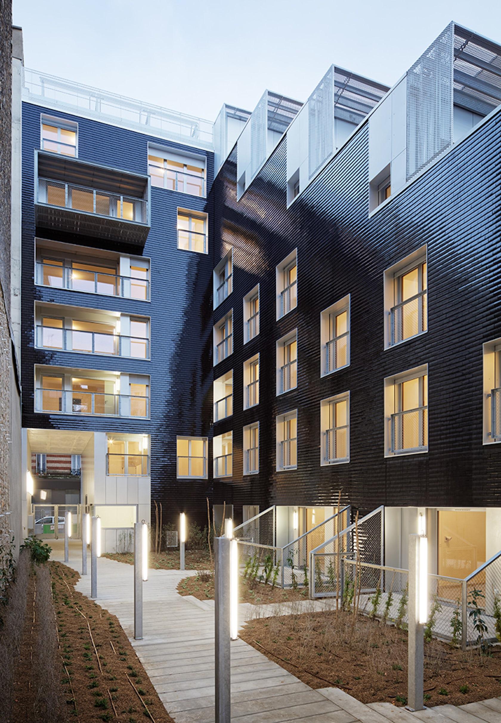 social housing units in paris france architizer. Black Bedroom Furniture Sets. Home Design Ideas