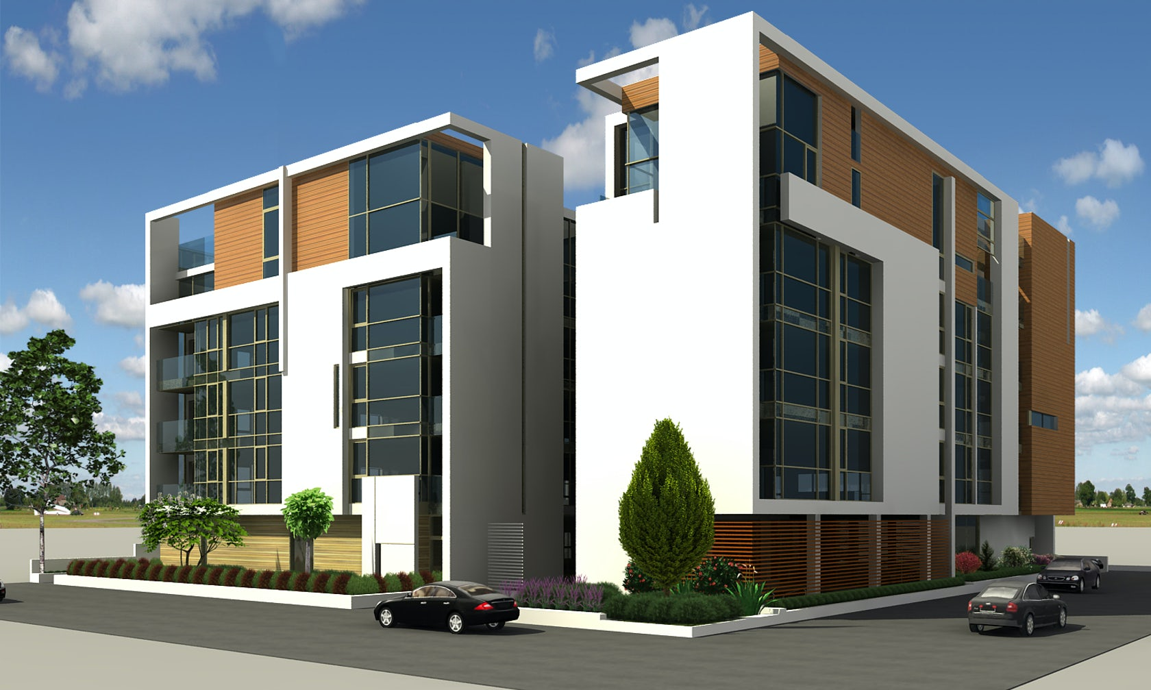 3d architectural rendering building models architizer - Icon exterior building solutions ...