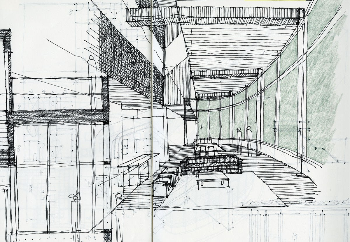 young architect guide: architectural sketching - architizer