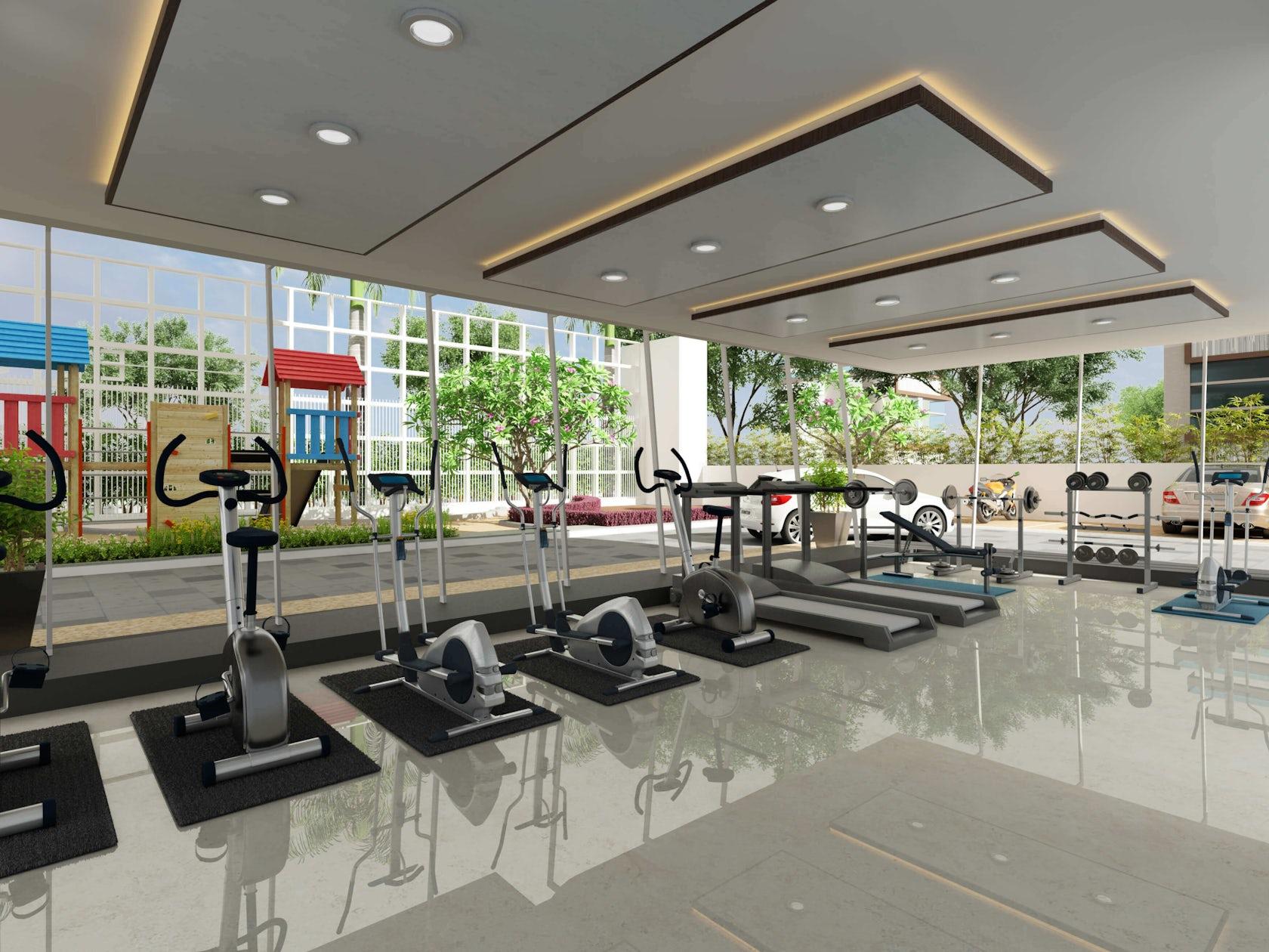 3d gym interior design architizer for Gym interior design