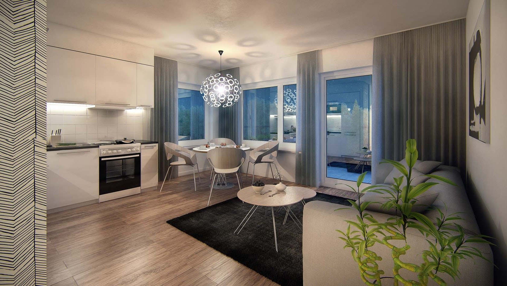 Modest Scandinavian Apartment 3d Visualization Architizer