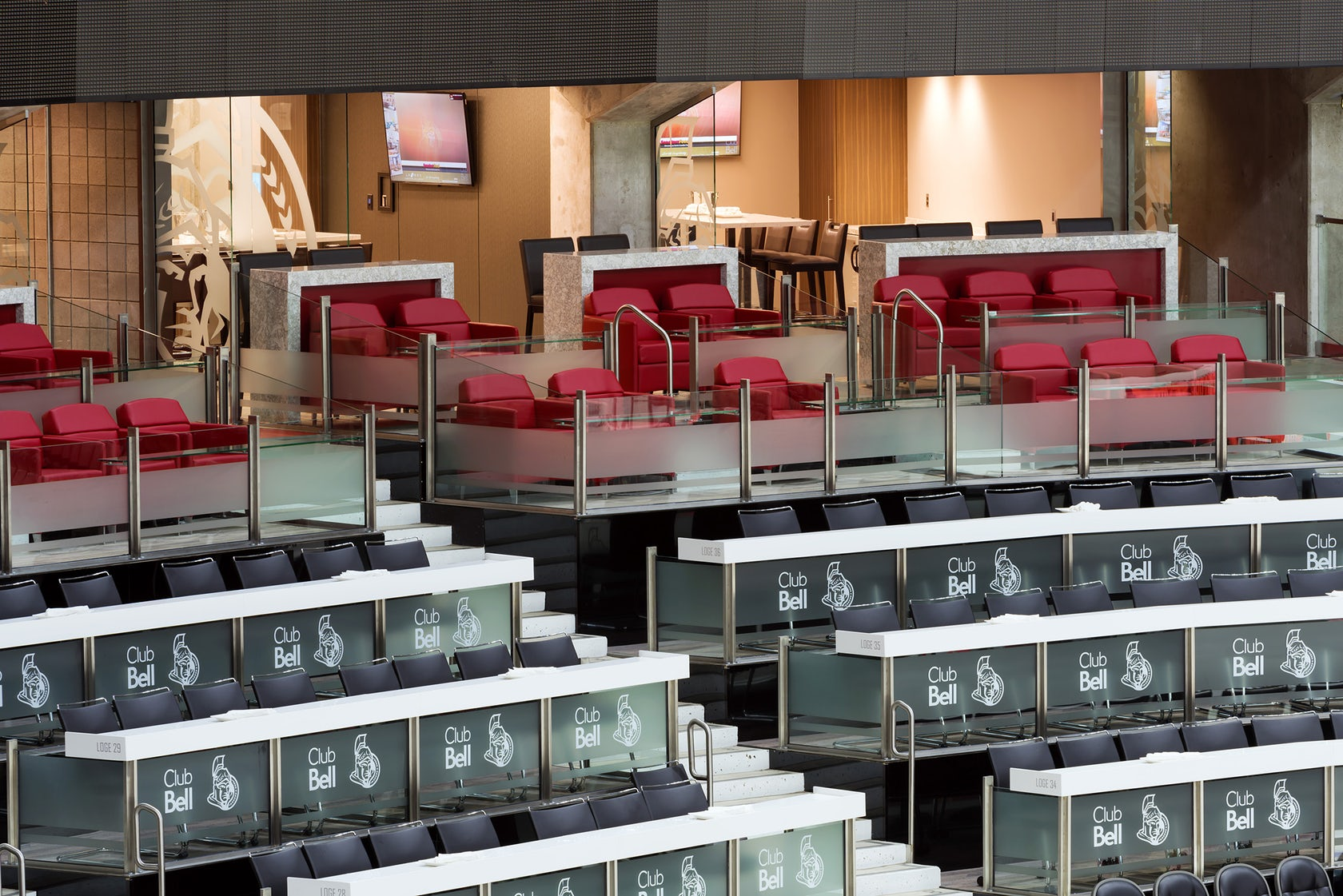 club bell  canadian tire centre architizer