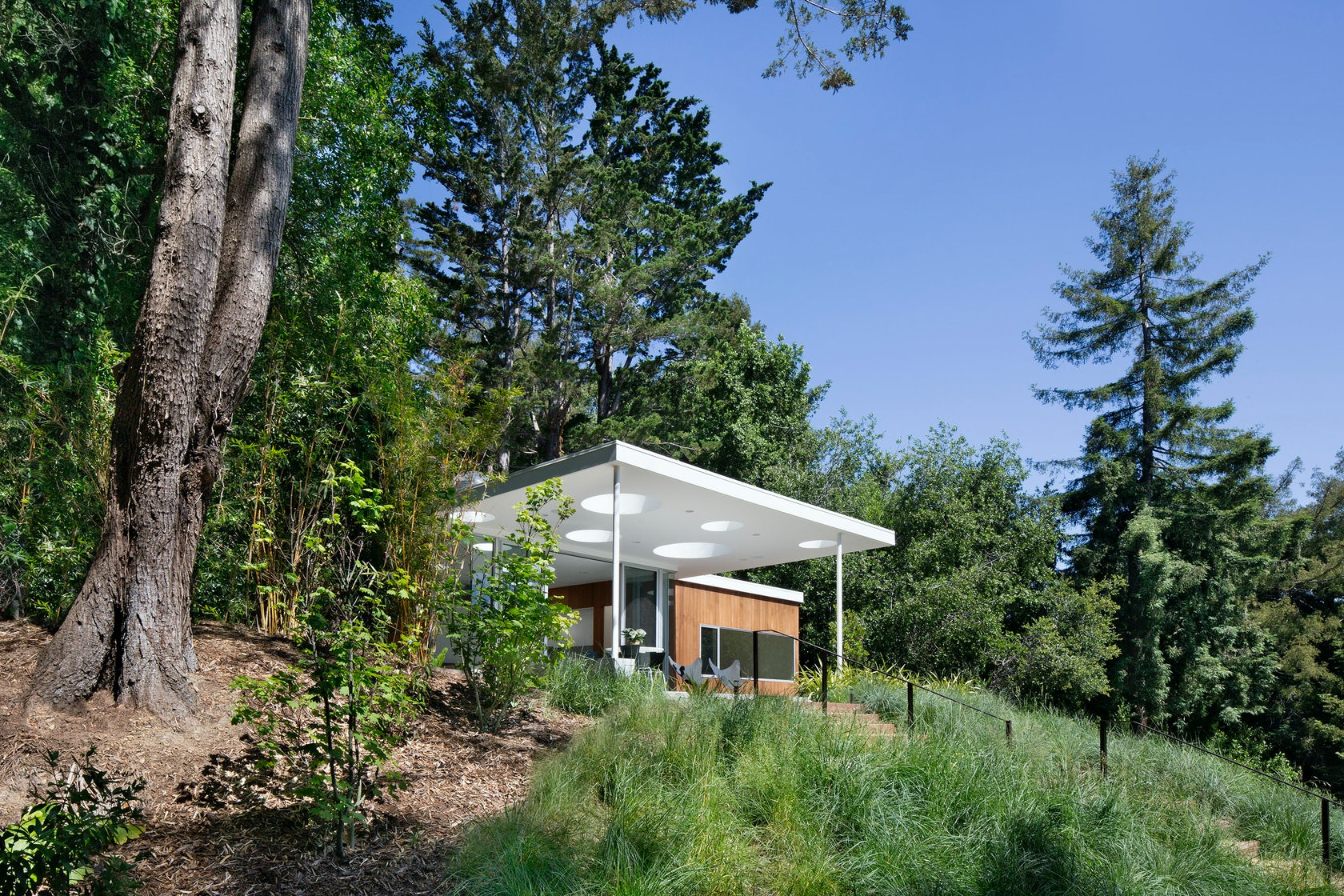 Mill valley guesthouse architizer for Valley mill summer camp